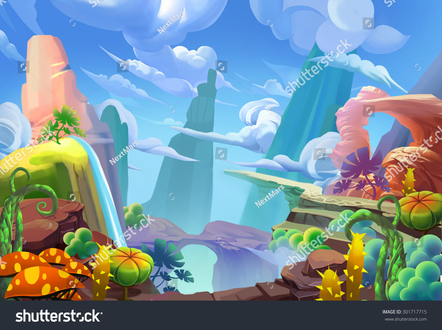 Download Wallpaper Mountain Cartoon - stock-photo-illustration-mountain-top-cartoon-style-fantastic-nature-topic-scene-wallpaper-background-301717715  Pic_776291.jpg