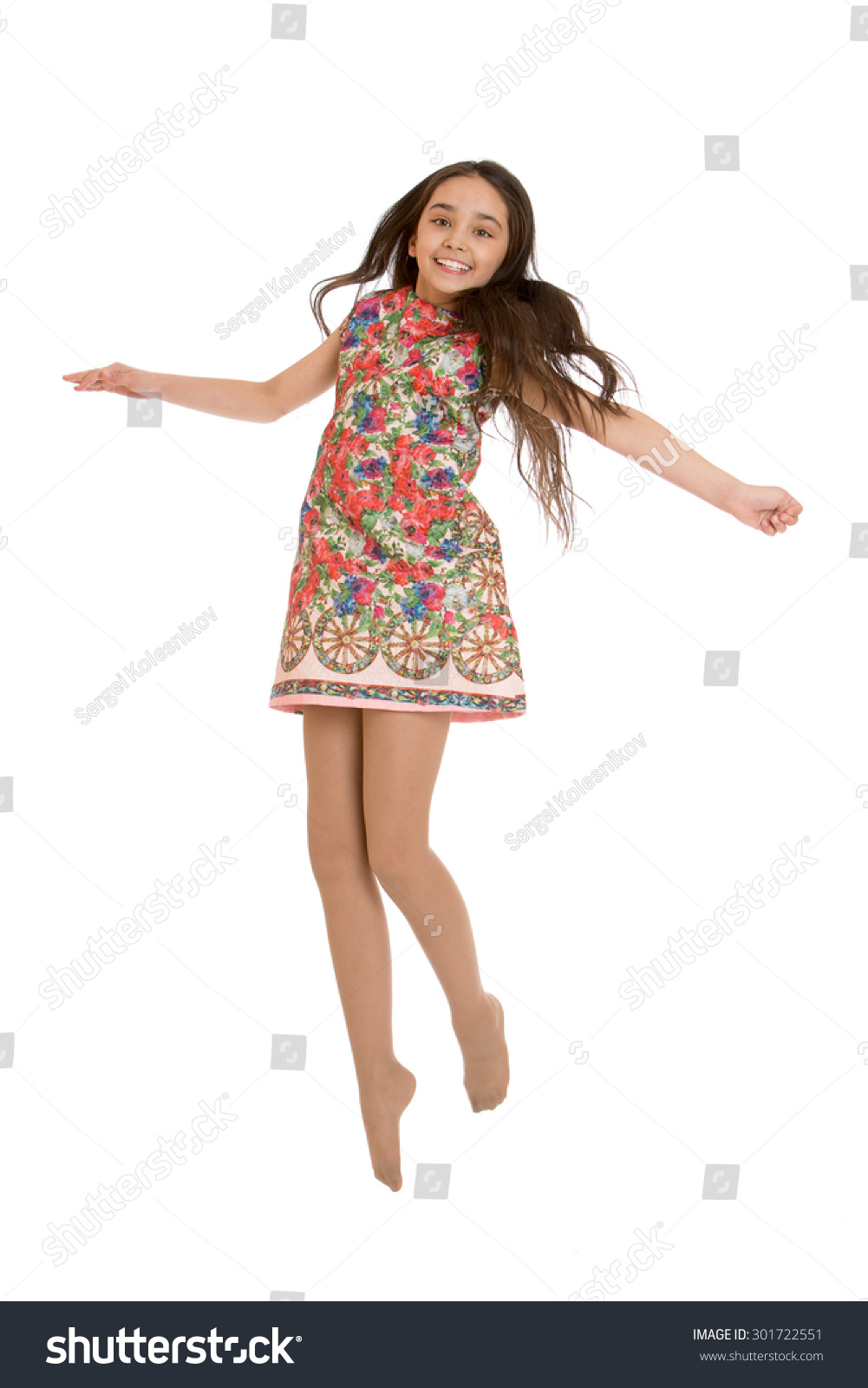 Very Beautiful Darkhaired Girl Very Short Stock Photo 301722551 ...