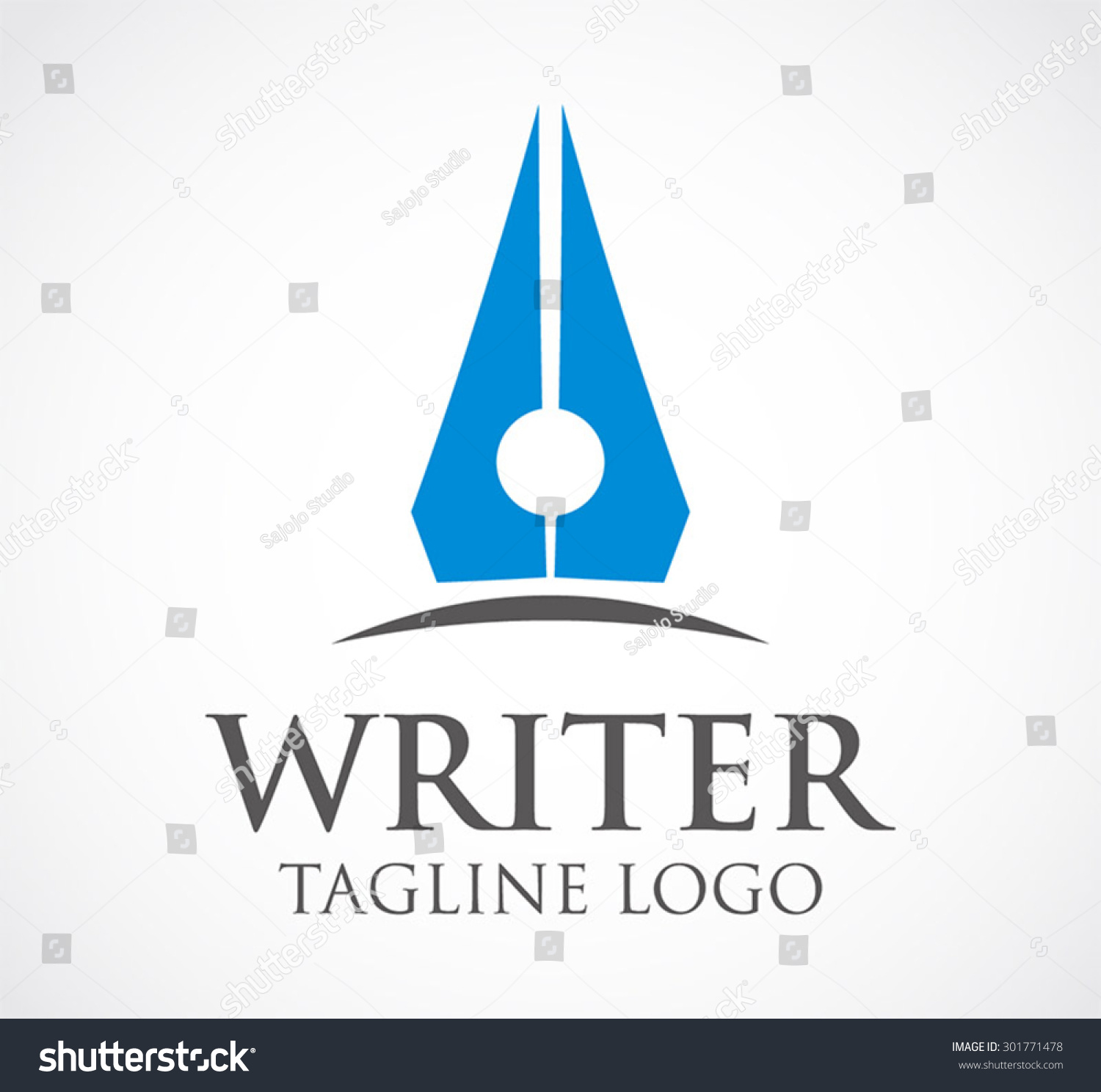 writer pen literature abstract vector logo stock vector  writer pen literature abstract vector logo design template library business icon company store shop office symbol