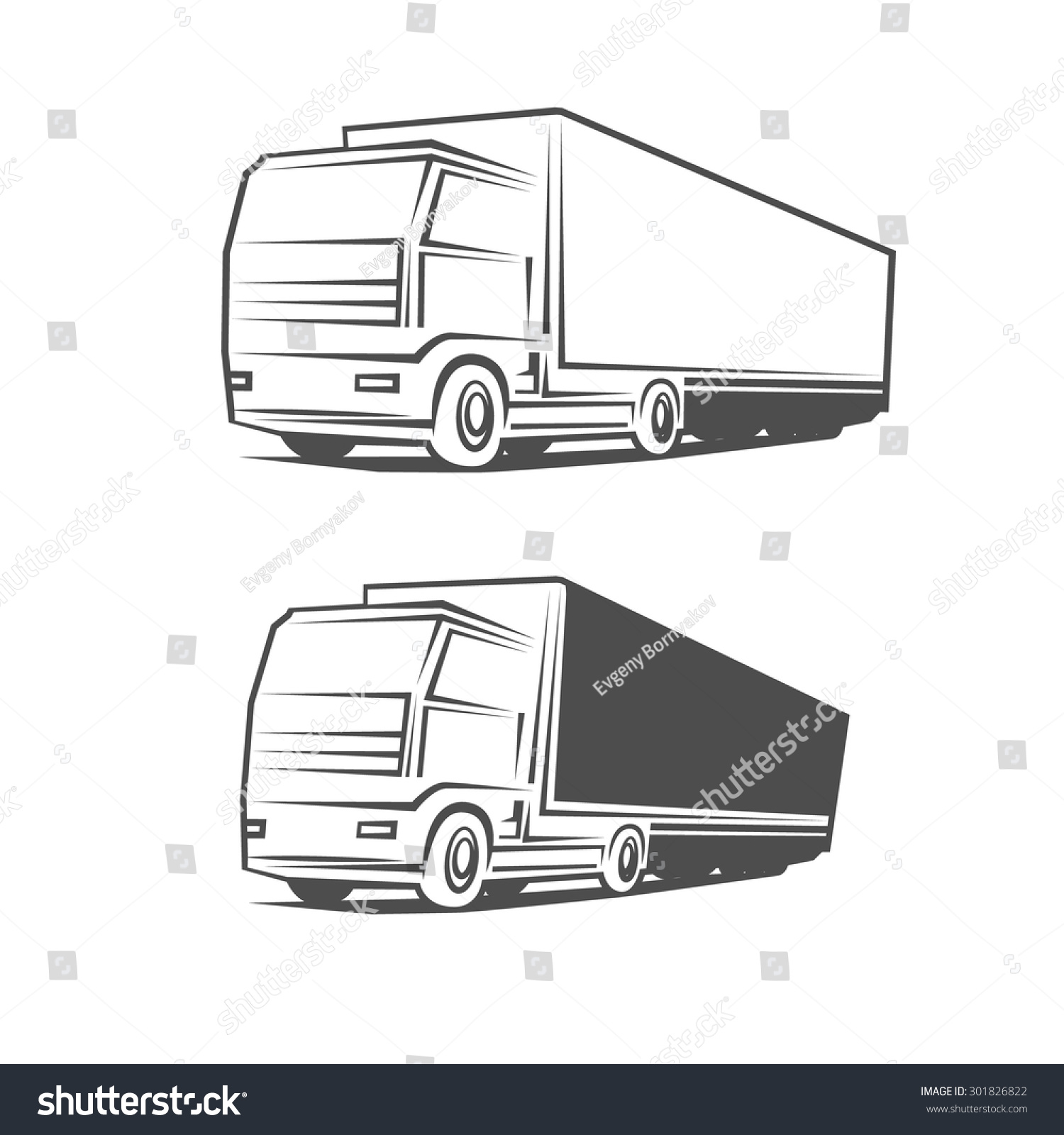 Logo truck design template simple vector stock vector 301826822 logo truck design template simple vector illustration pronofoot35fo Choice Image