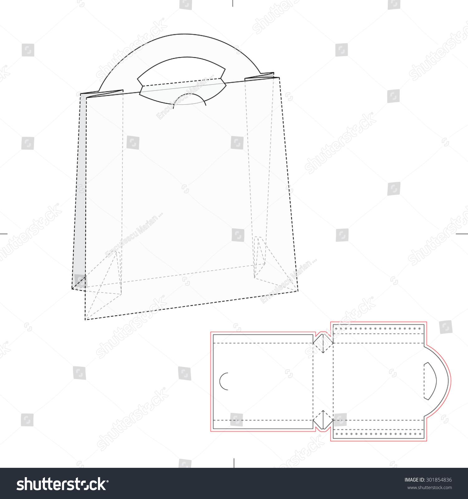 Paper bag blueprint layout vectores en stock 301854836 shutterstock paper bag with blueprint and layout malvernweather Gallery