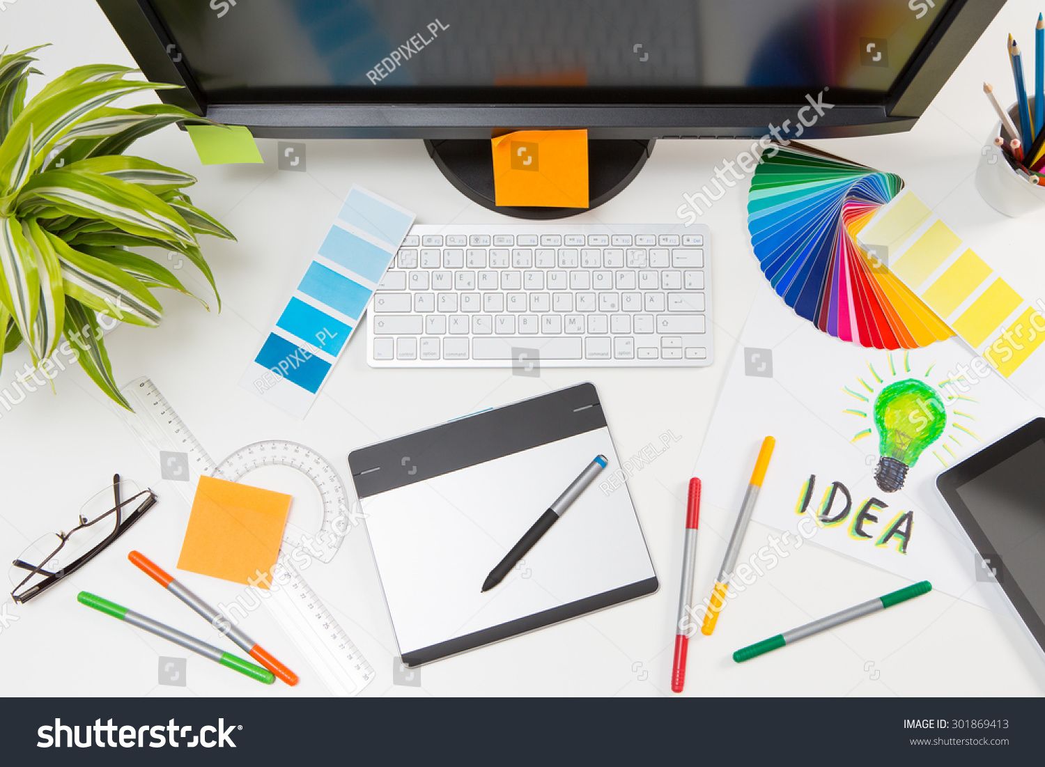 Graphic Designer Work Color Swatch Samples Stock Photo 301869413 Shutterstock