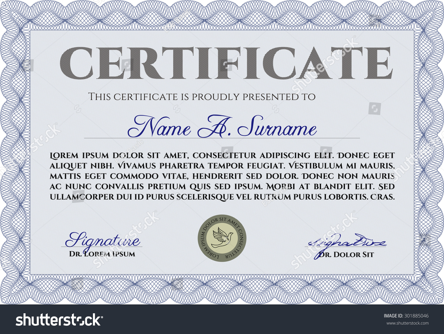 Contemporary template certificate of achievement vignette examples certificate achievement template vector pattern that stock vector yelopaper Choice Image