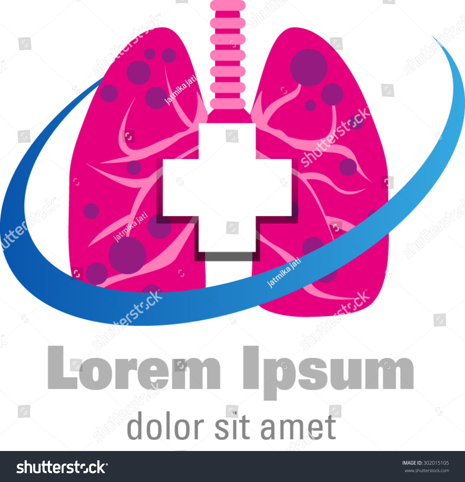 Abstract Shapes Lungs Symbol Logo Health Stock Vector Royalty Free