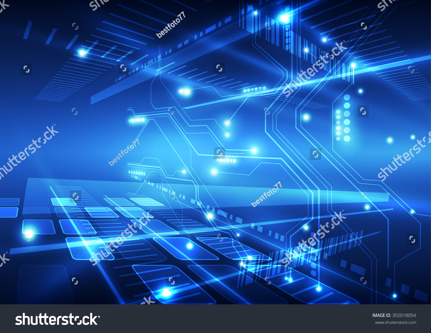 Technology Abstract Background Stock Illustration: Abstract Vector Future Technology Background Illustration