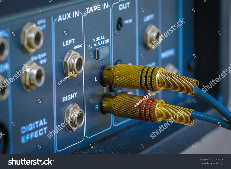 RCA Jacks Connect Audio Control Mixer Stock Photo (Royalty Free ...
