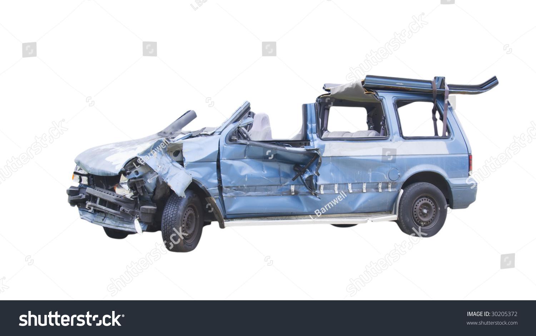Blue Minivan Clipart