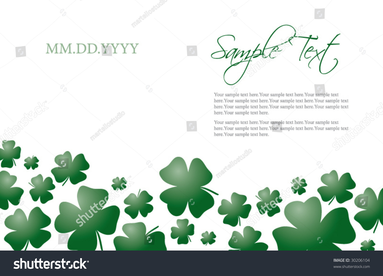 Cool 1 Inch Circle Template Huge 1 Round Label Template Regular 1.5 Inch Hexagon Template 10 Off Coupon Template Young 12 Team Schedule Template Green15 Year Old Resume Template Four Leaf Clover Card Invitation Template Stock Vector 30206104 ..