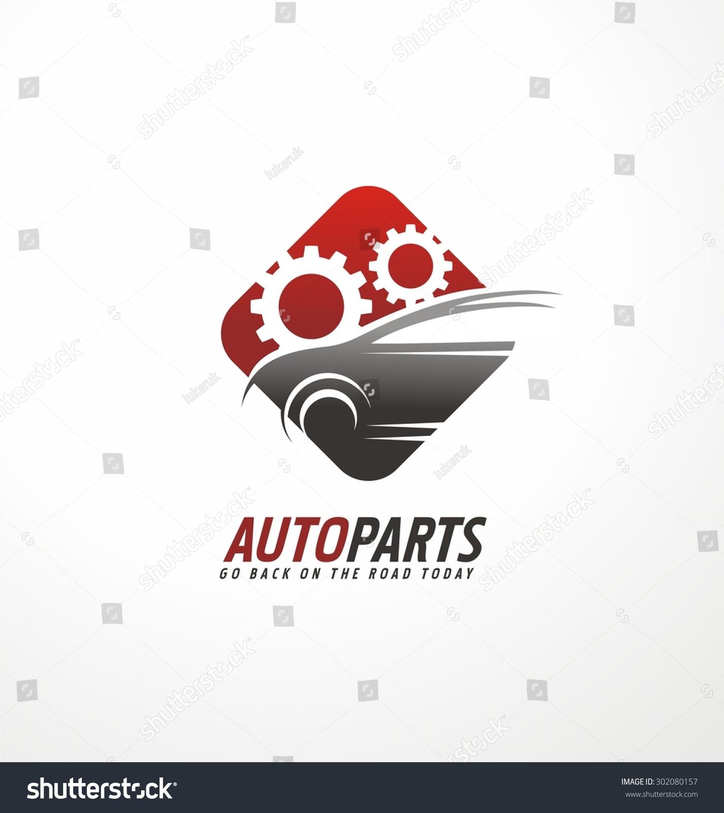 Auto Parts Logo Design Concept Car Stock Vector Royalty Free