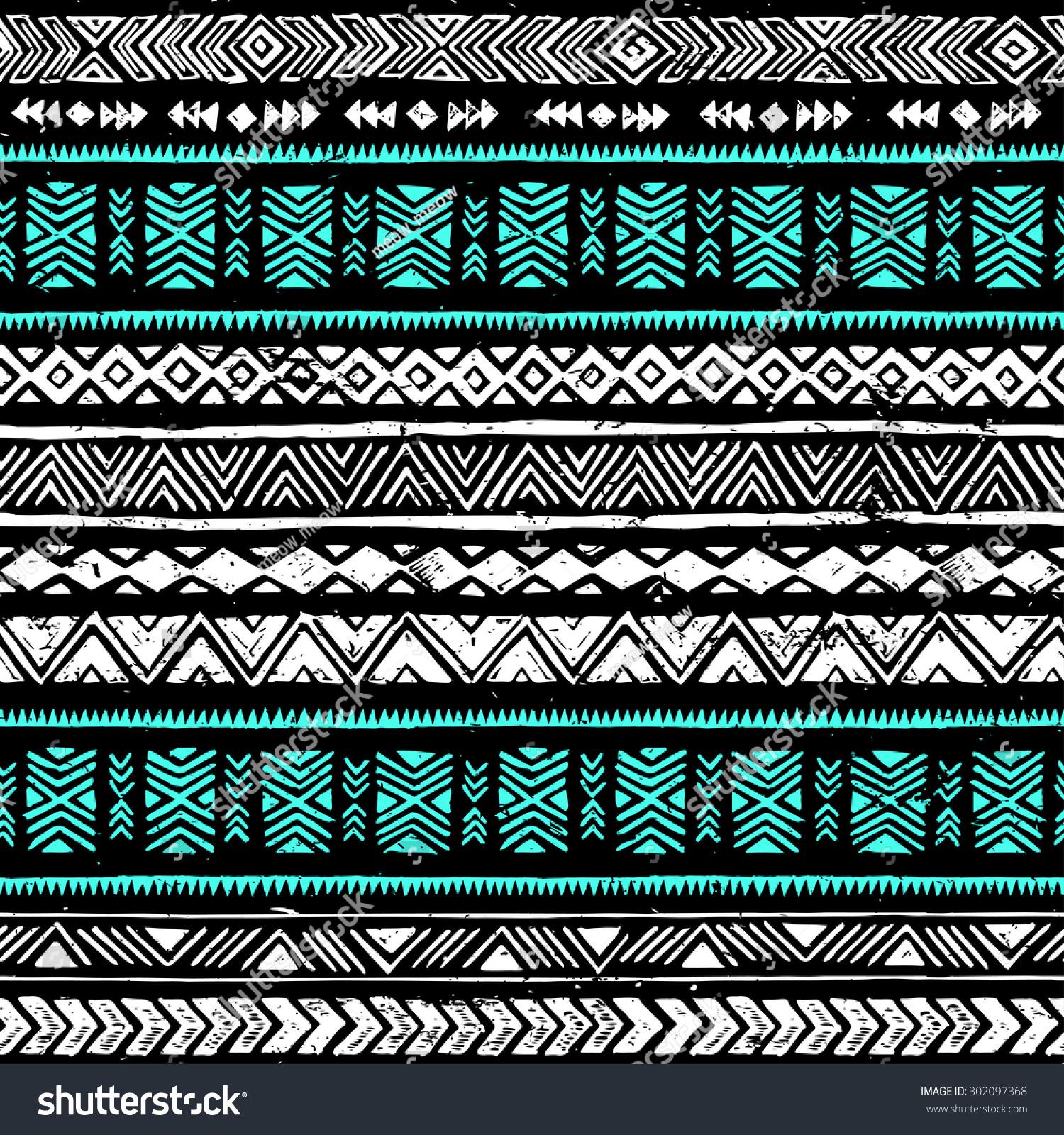 black, white an... Tribal Print Pattern Black And White