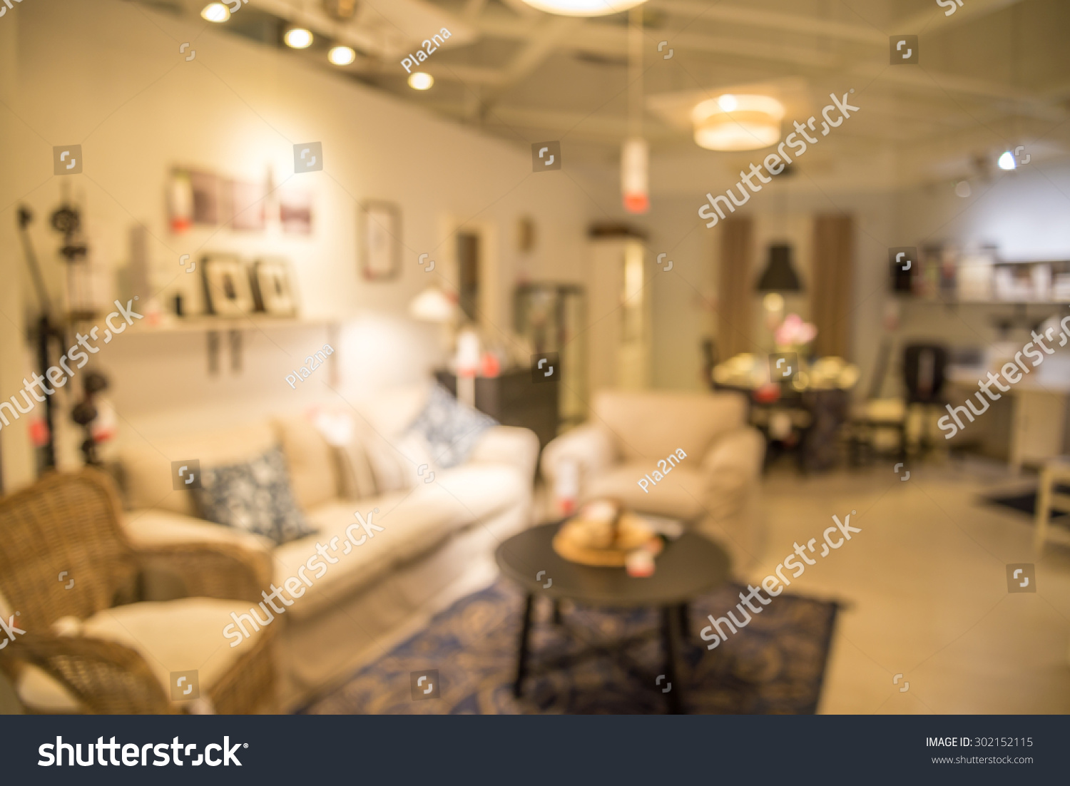 Abstract blurred furniture home decor store background. Abstract Blurred Furniture Home Decor Store Stock Photo 302152115