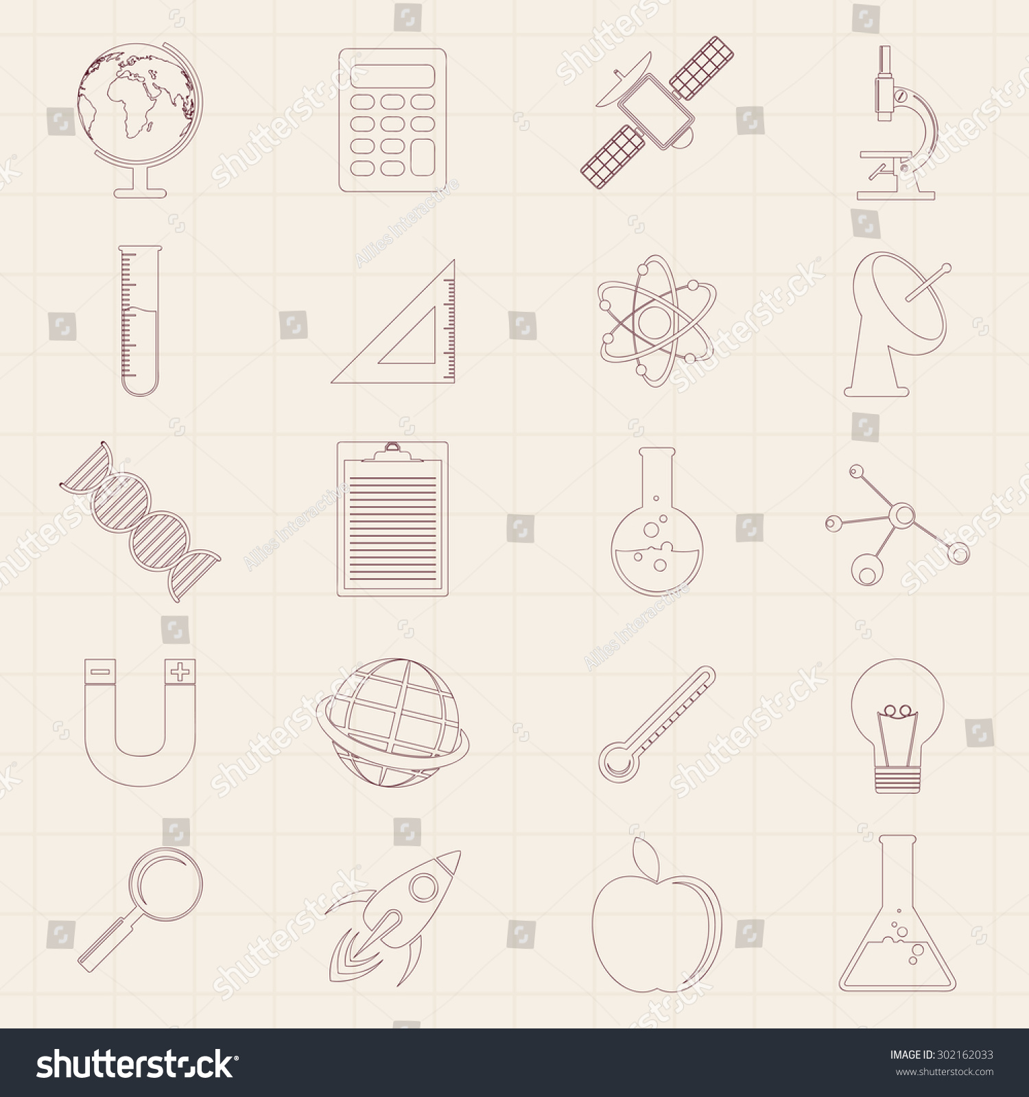 set various signs symbols on graph stock vector royalty free