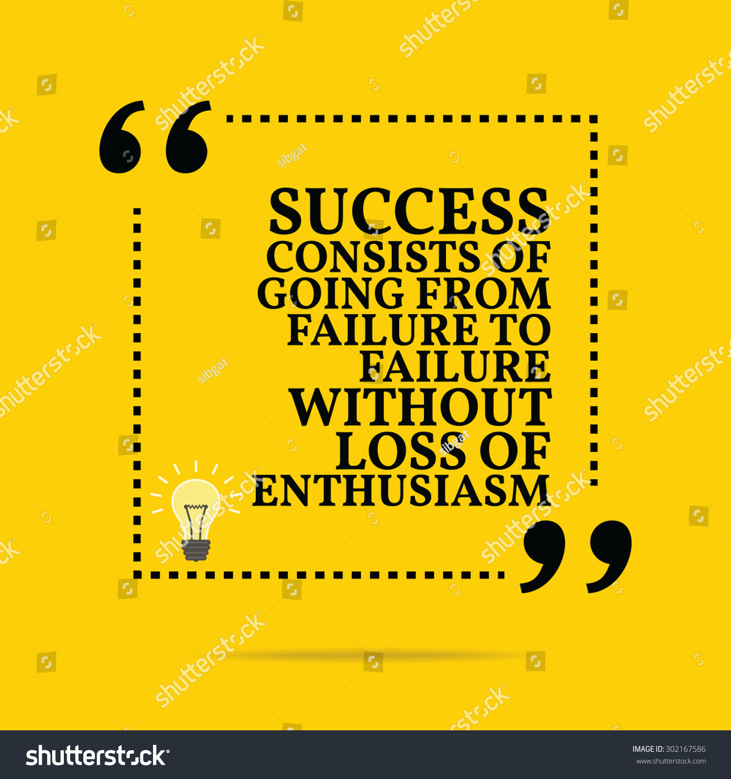 Inspirational Quotes About Failure: Inspirational Motivational Quote Success Consists Going