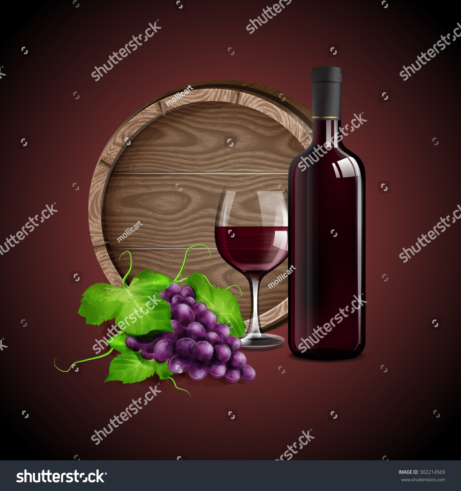 Red Wine Banner Quality Stock Vector Royalty Free 302214569
