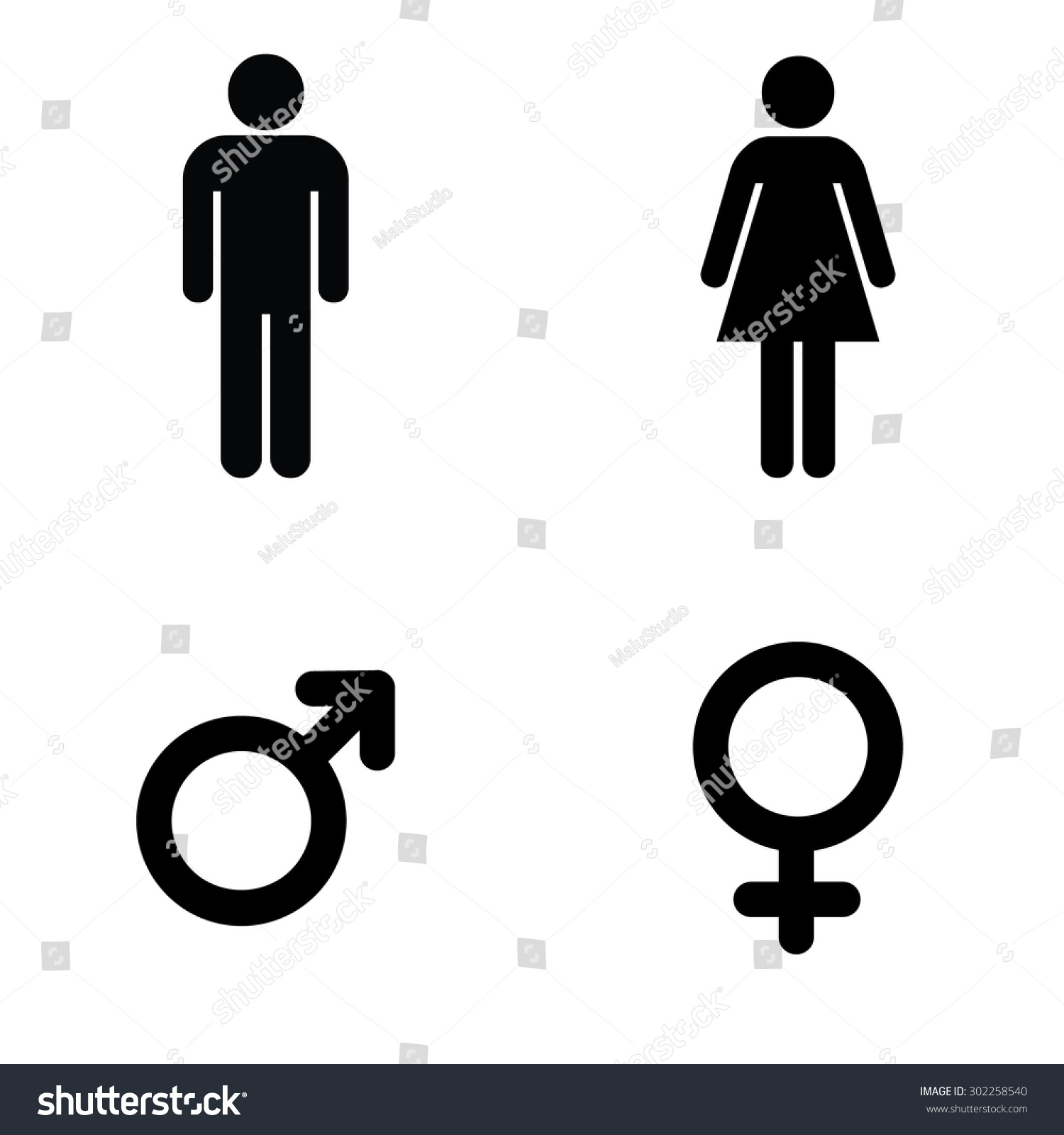 man lady toilet sign male female stock vector 302258540