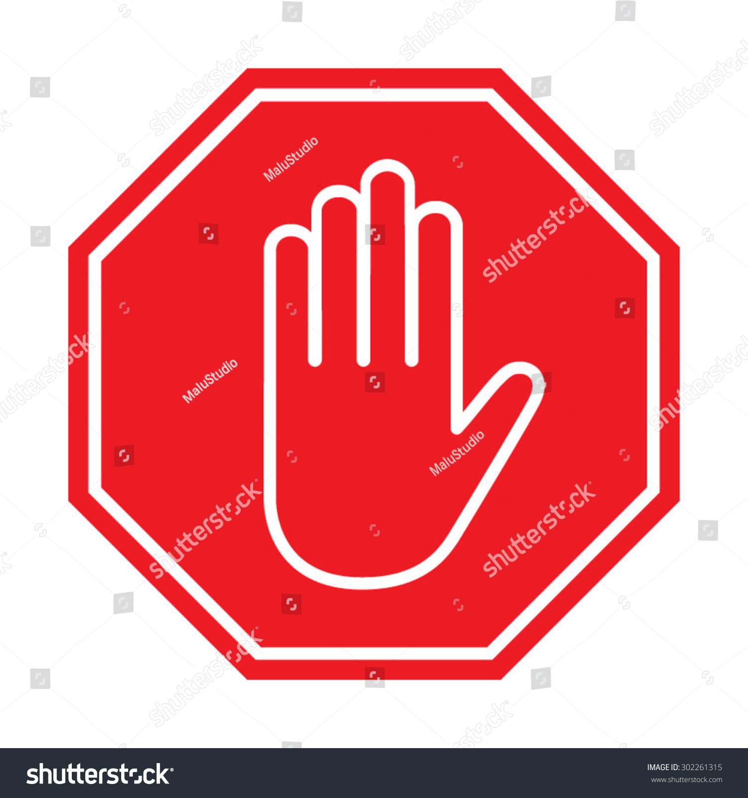 stop sign vector illustration stock vector 302261315 shutterstock rh shutterstock com vector image stop sign vector stop sign icon
