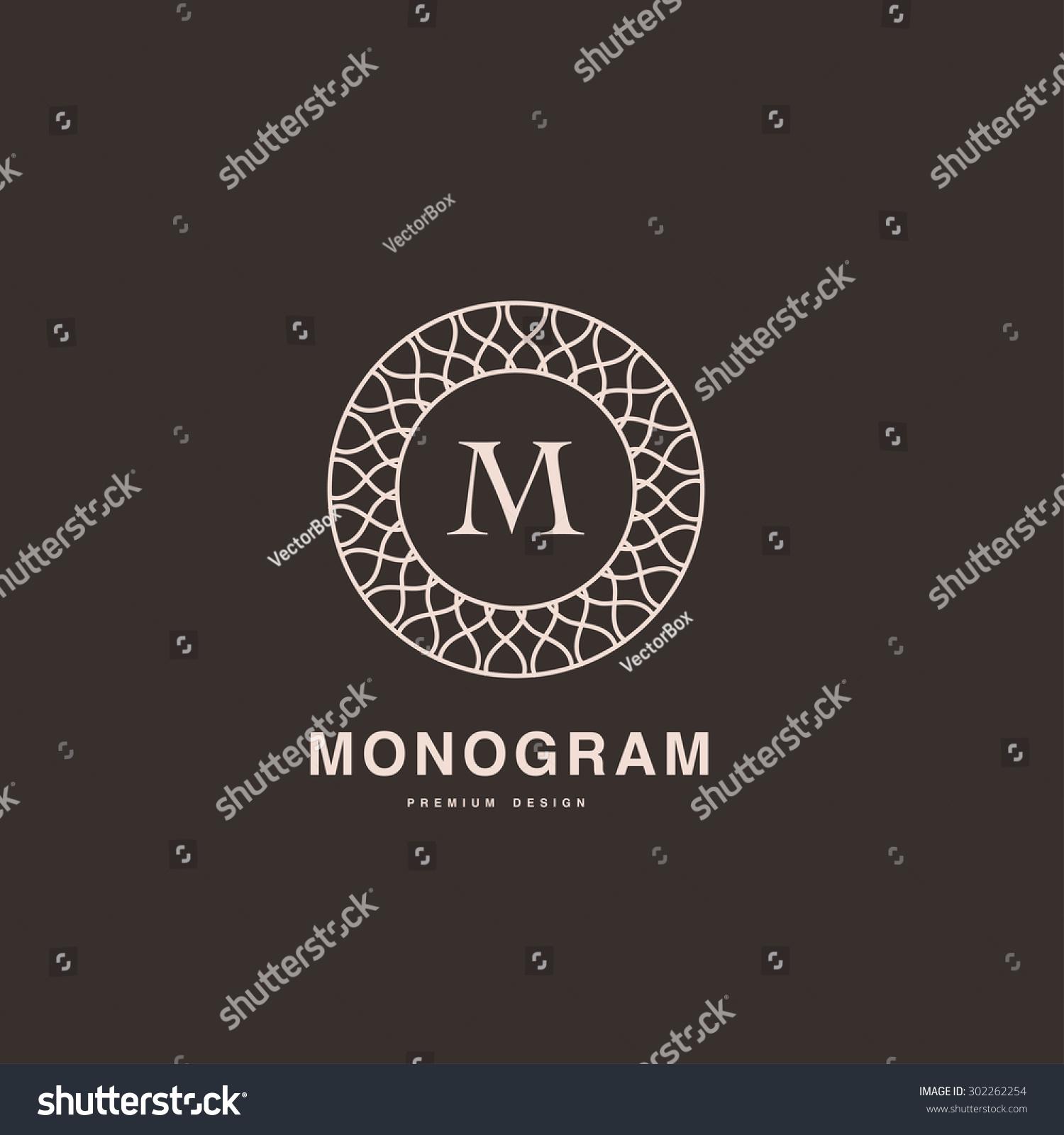 Abstract Monogram Elegant Logo Design Template Stock Vector (2018 ...