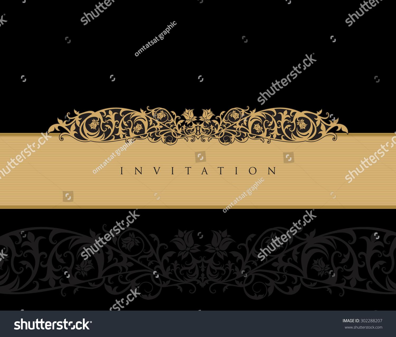 Royal invitation card template stock vector 2018 302288207 royal invitation card template stopboris Images