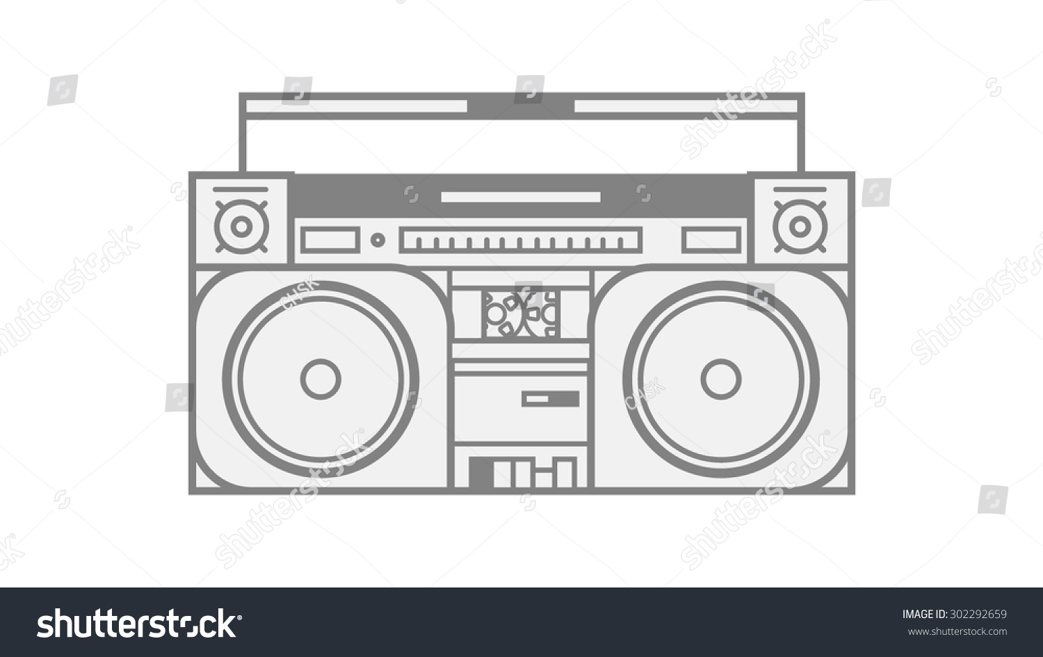 boombox vector illustration eps 10 stock photo photo vector rh shutterstock com boombox vector free download boombox vector image