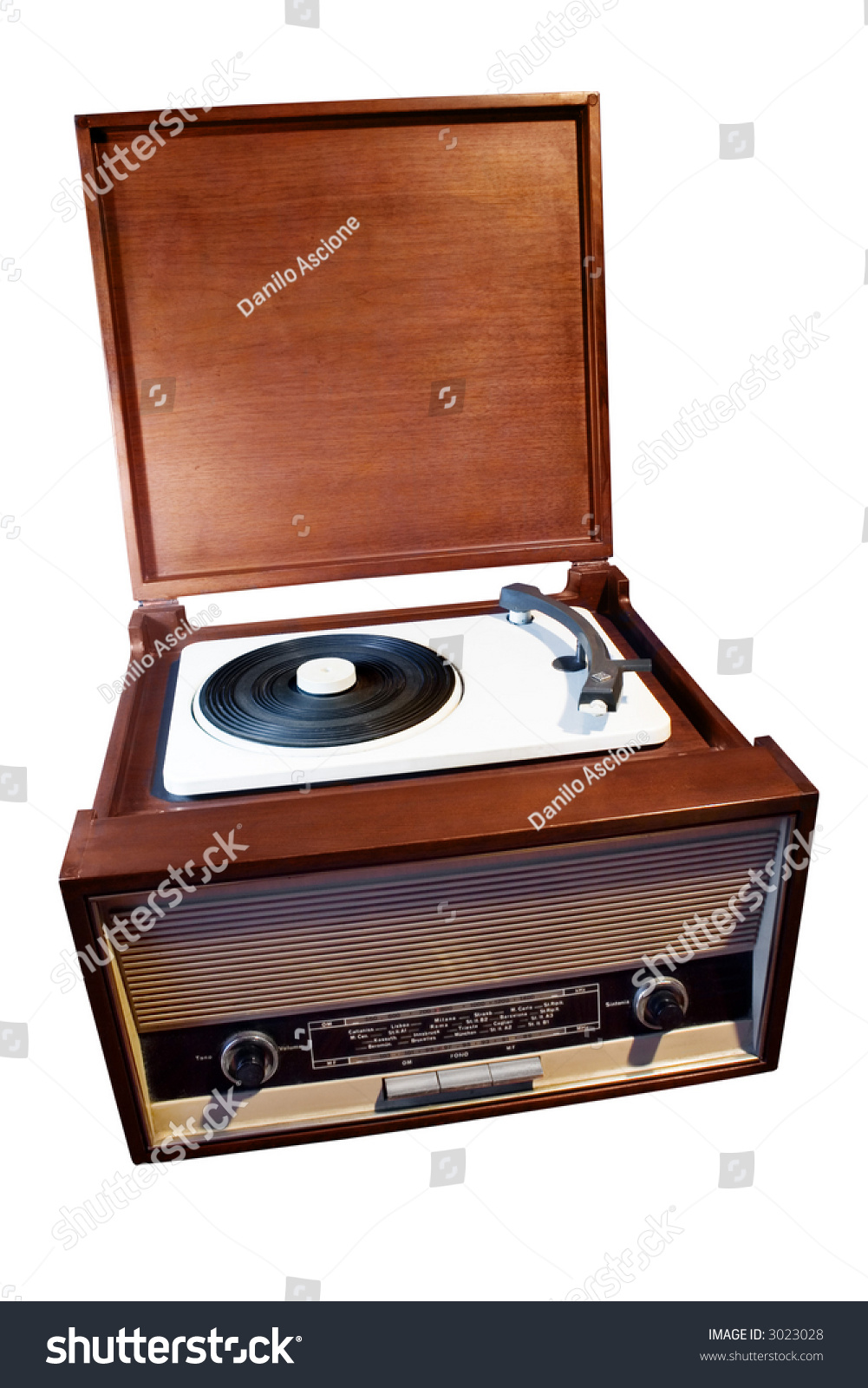 Old Fashioned Turntable In Room