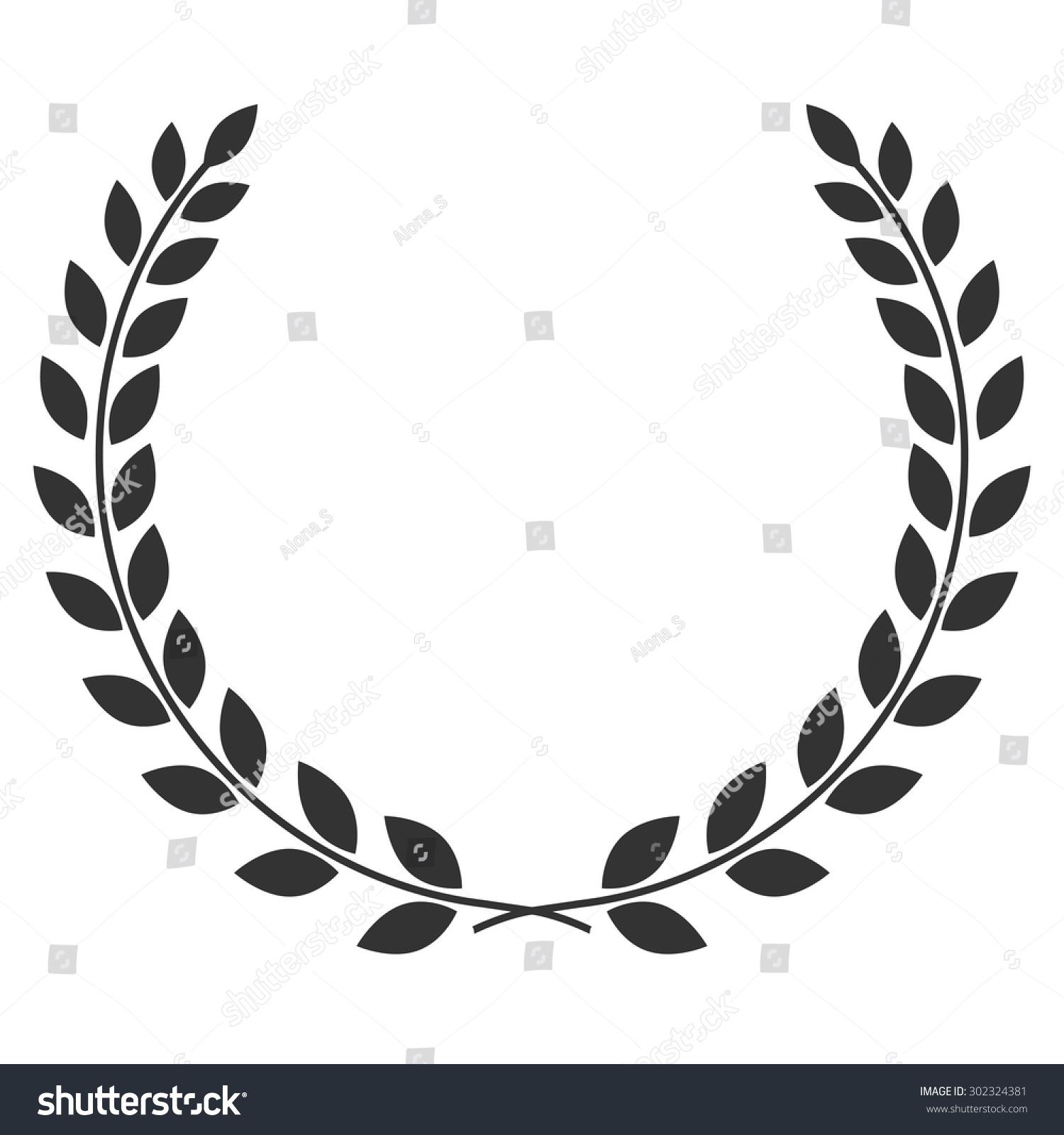 Laurel Wreath Symbol Victory Achievement Design Stock Vector