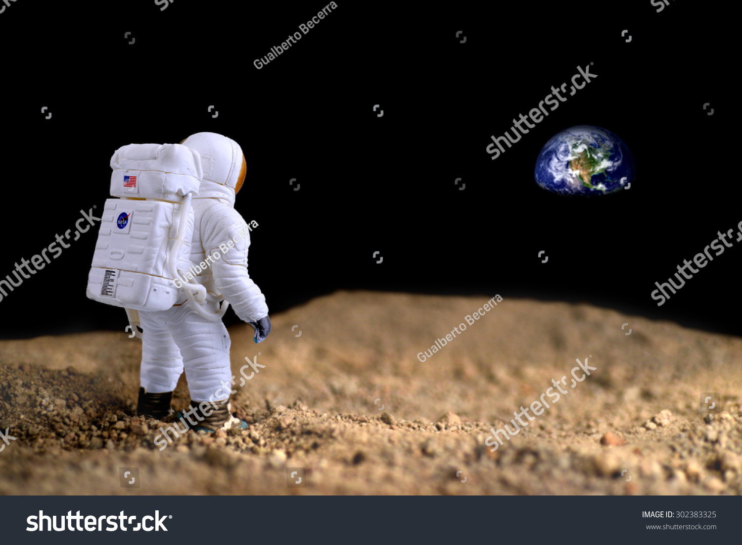 astronaut on moon earth background-#17