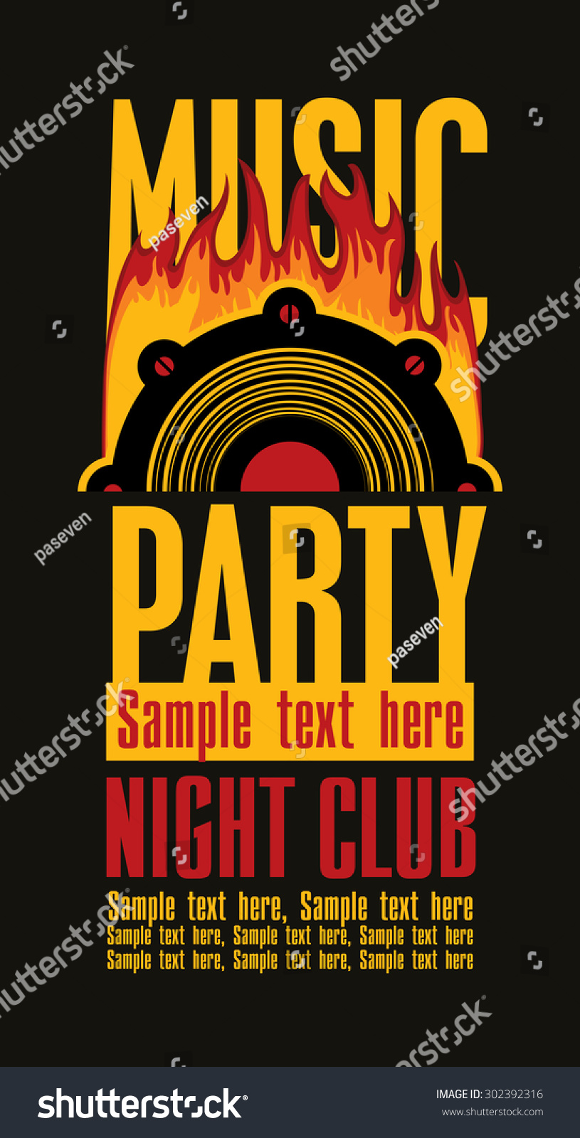 Playbill Musical Party Speaker Vector de stock302392316: Shutterstock
