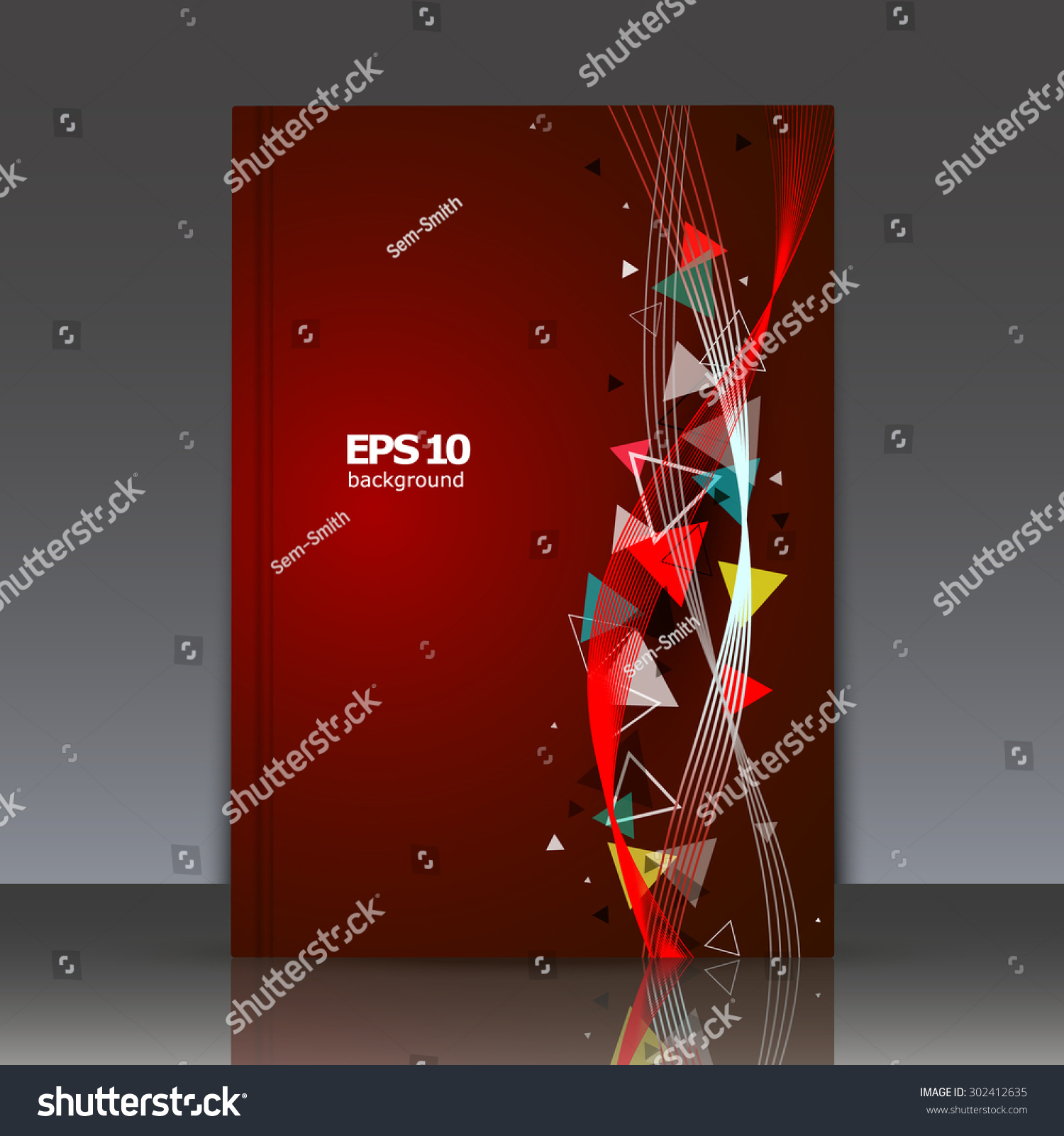 Abstract Book Cover Background : Abstract composition brochure wave background eps