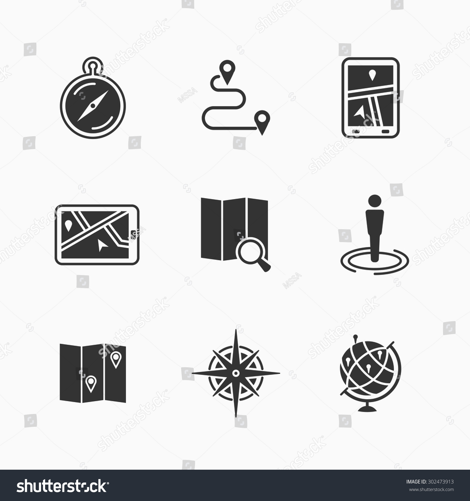 Map Icons Set Travel Gps Pin Vector 302473913 Shutterstock – Travel Marker Map