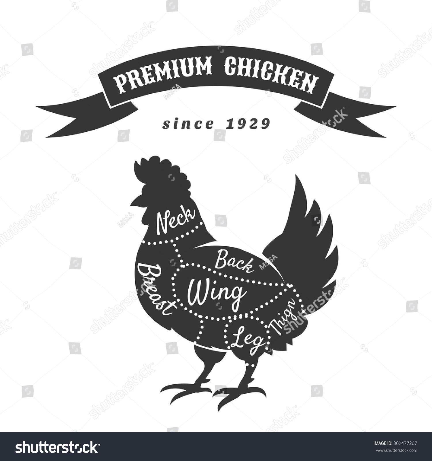 Meat cuts chicken