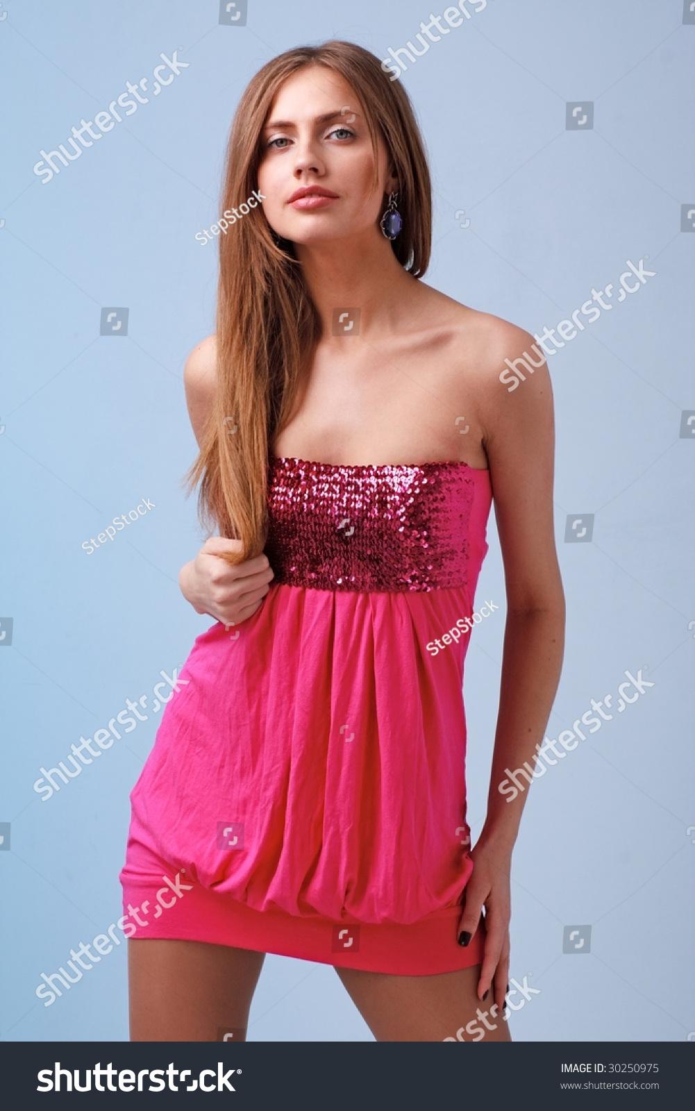 Popular Beautiful Yong Woman In Short Dress Royalty-Free Stock Photo | CartoonDealer.com #9815523