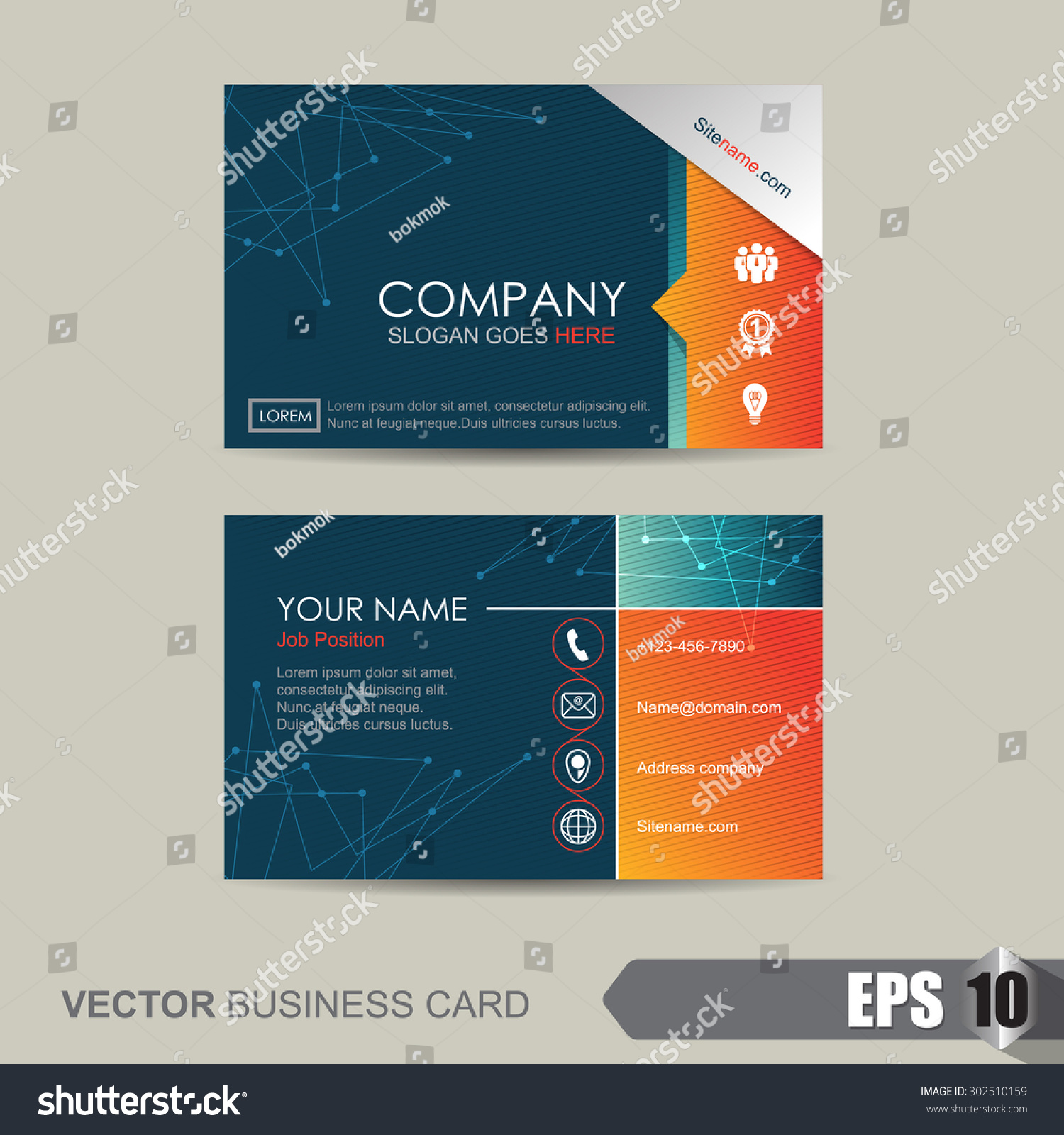 vector illustrationbusiness card template abstract