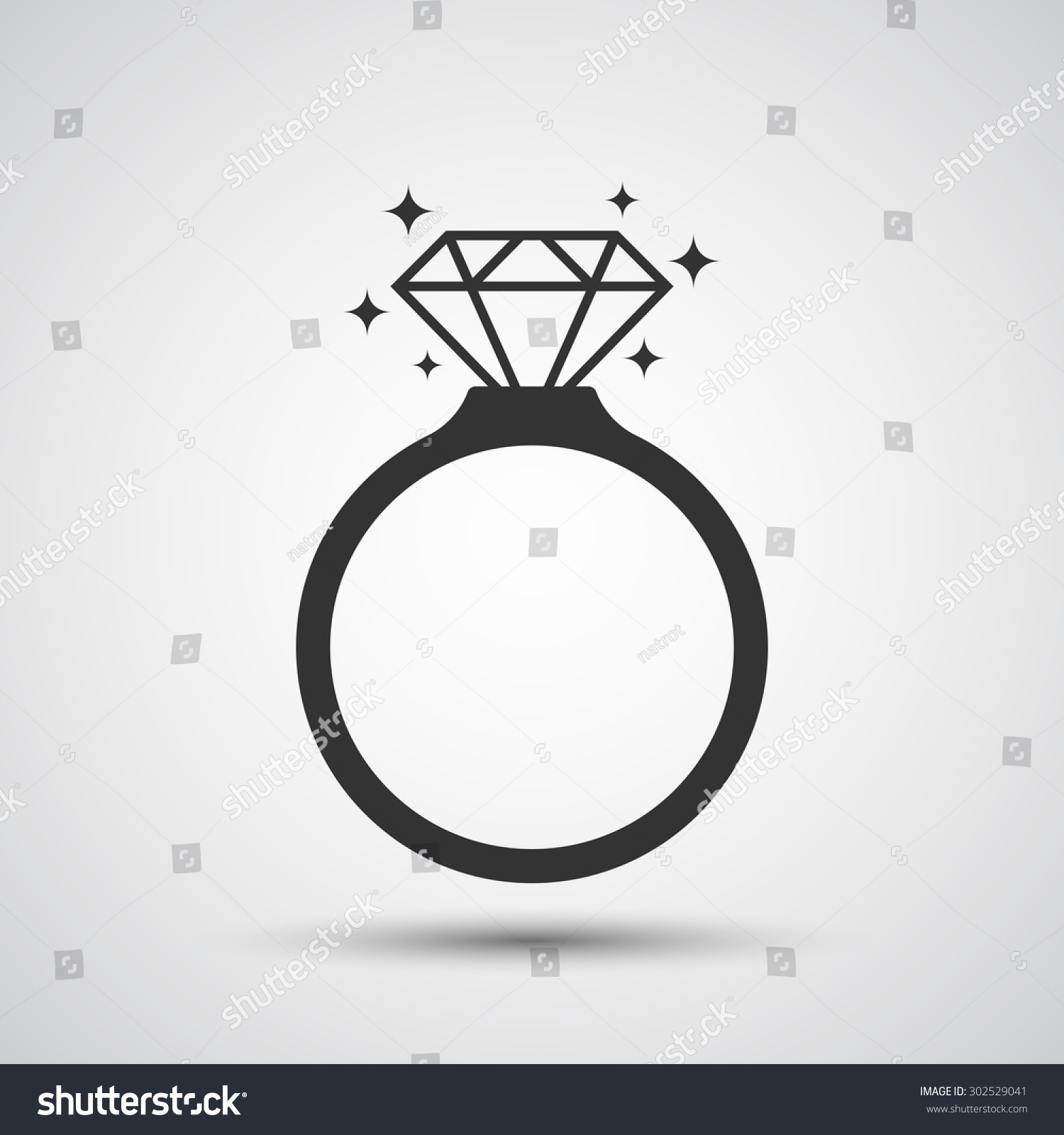 diamond ring vector icon - photo #19