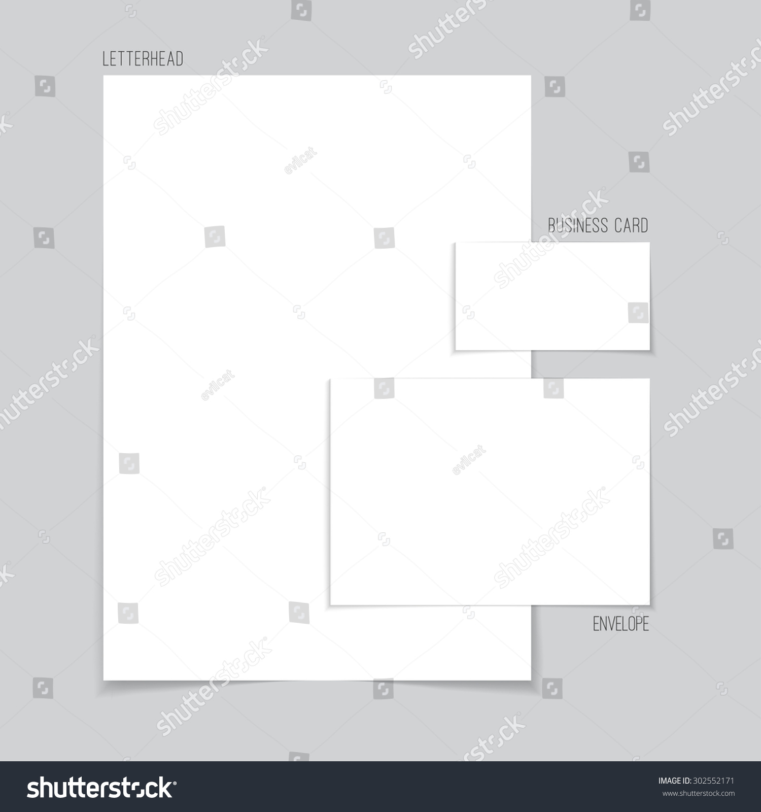 Vector blank corporate identity template consisting stock vector vector blank corporate identity template consisting of letterhead business card and envelope or greeting kristyandbryce Gallery