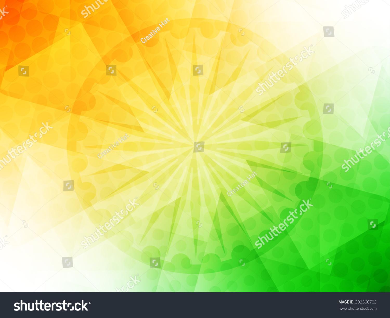 India Flag Theme: Elegant Shiny Indian Flag Theme Vector Background