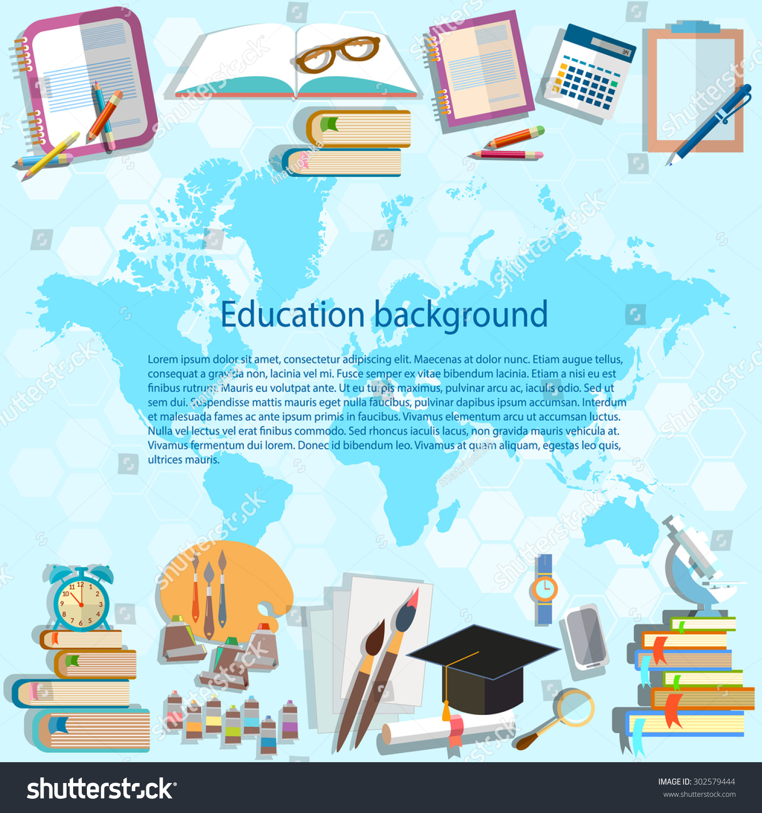 Science education back school world map stock vector 2018 science and education back to school world map online examinations student subjects university college math physics gumiabroncs Images
