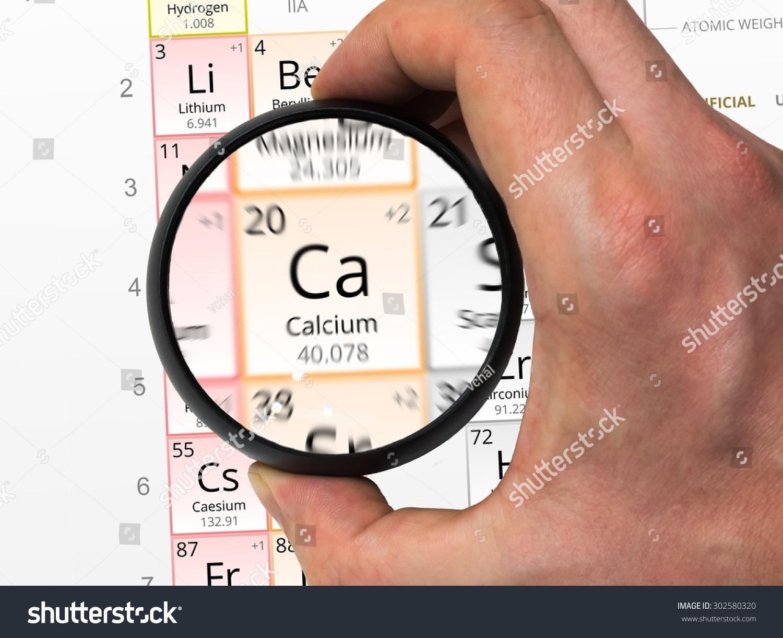 Calcium Symbol Ca Element Periodic Table Stock Photo 302580320
