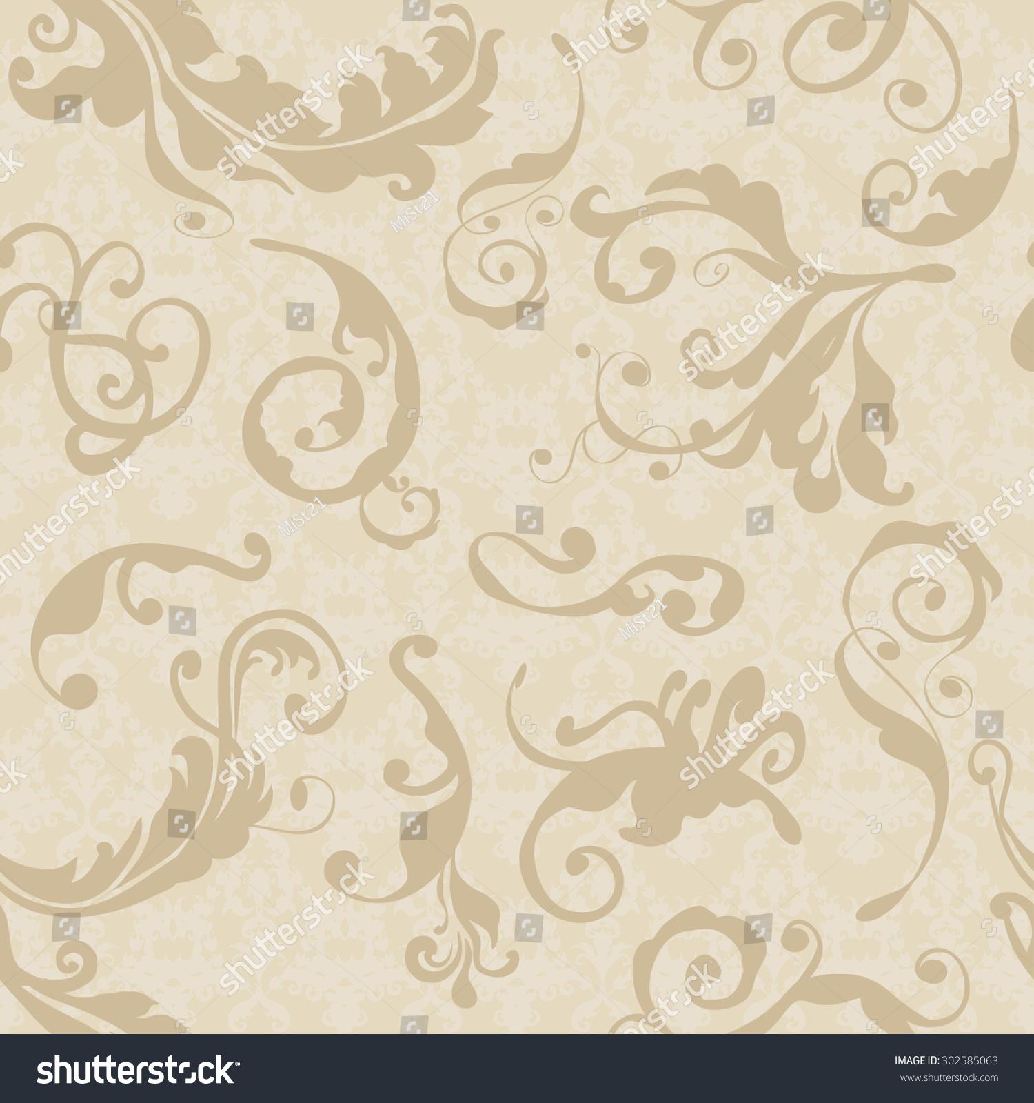 Vector Illustration Luxury Texture Wallpapers Fabric 302585063