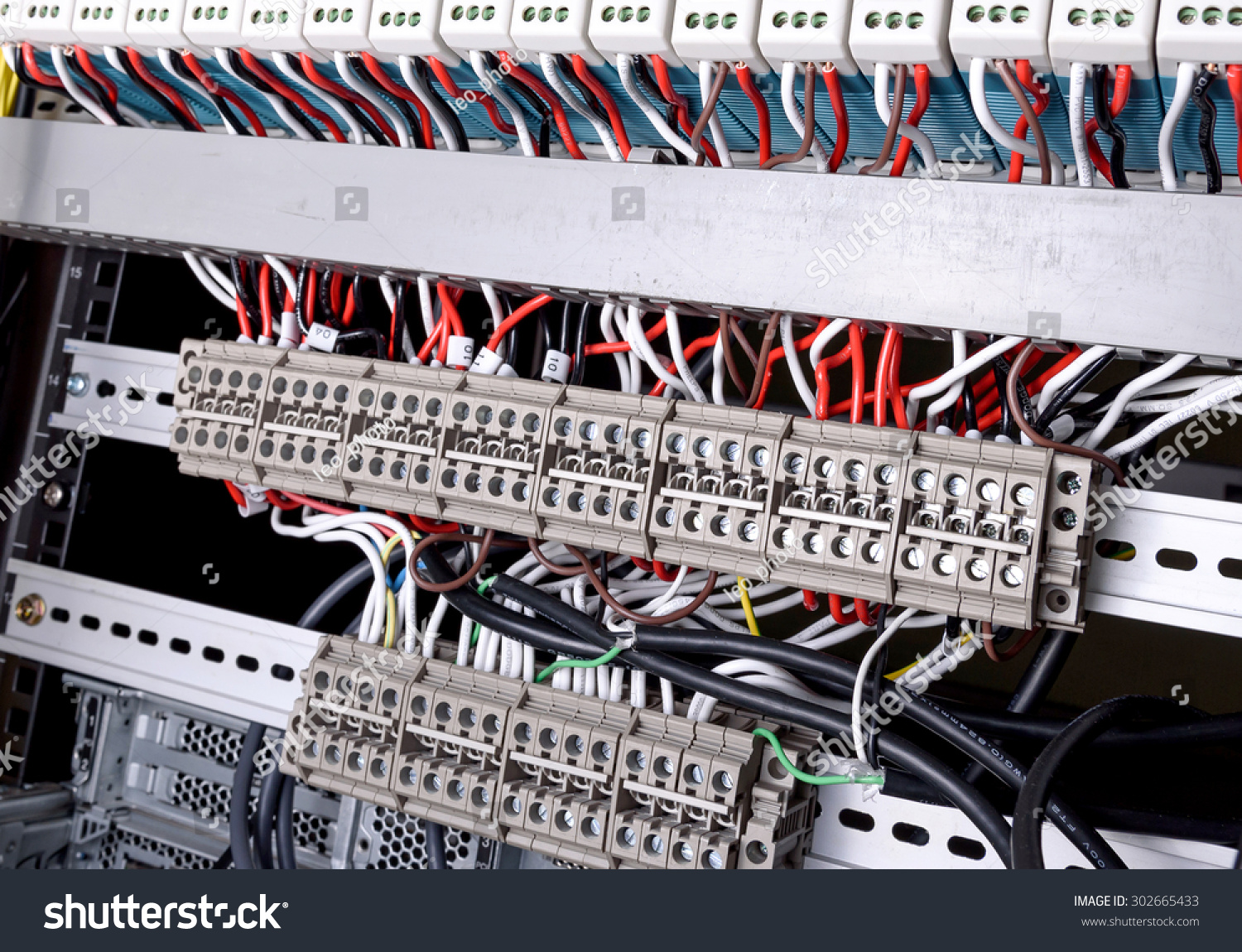 Wiring Control Panel Wires Data Center Stock Photo (100% Legal ...