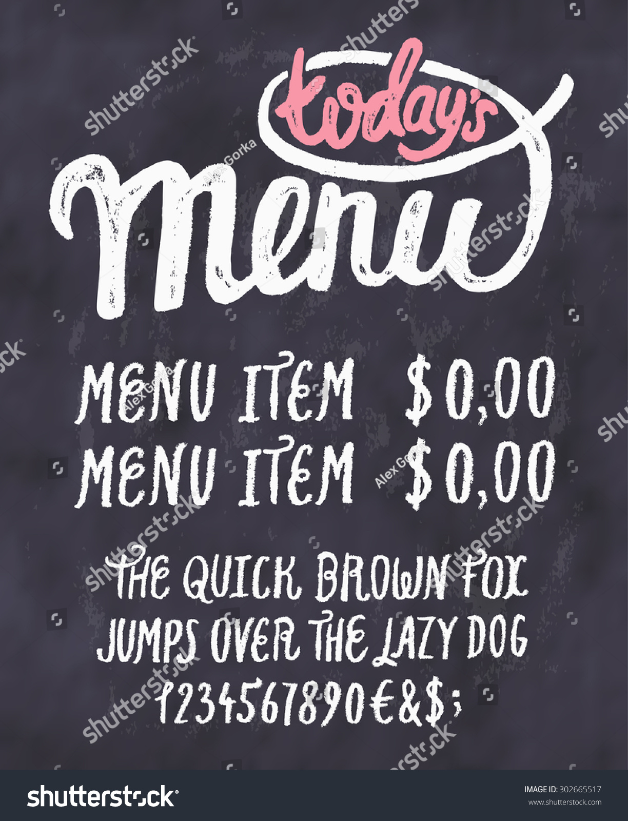 today s special menu chalkboard menu template ez canvas