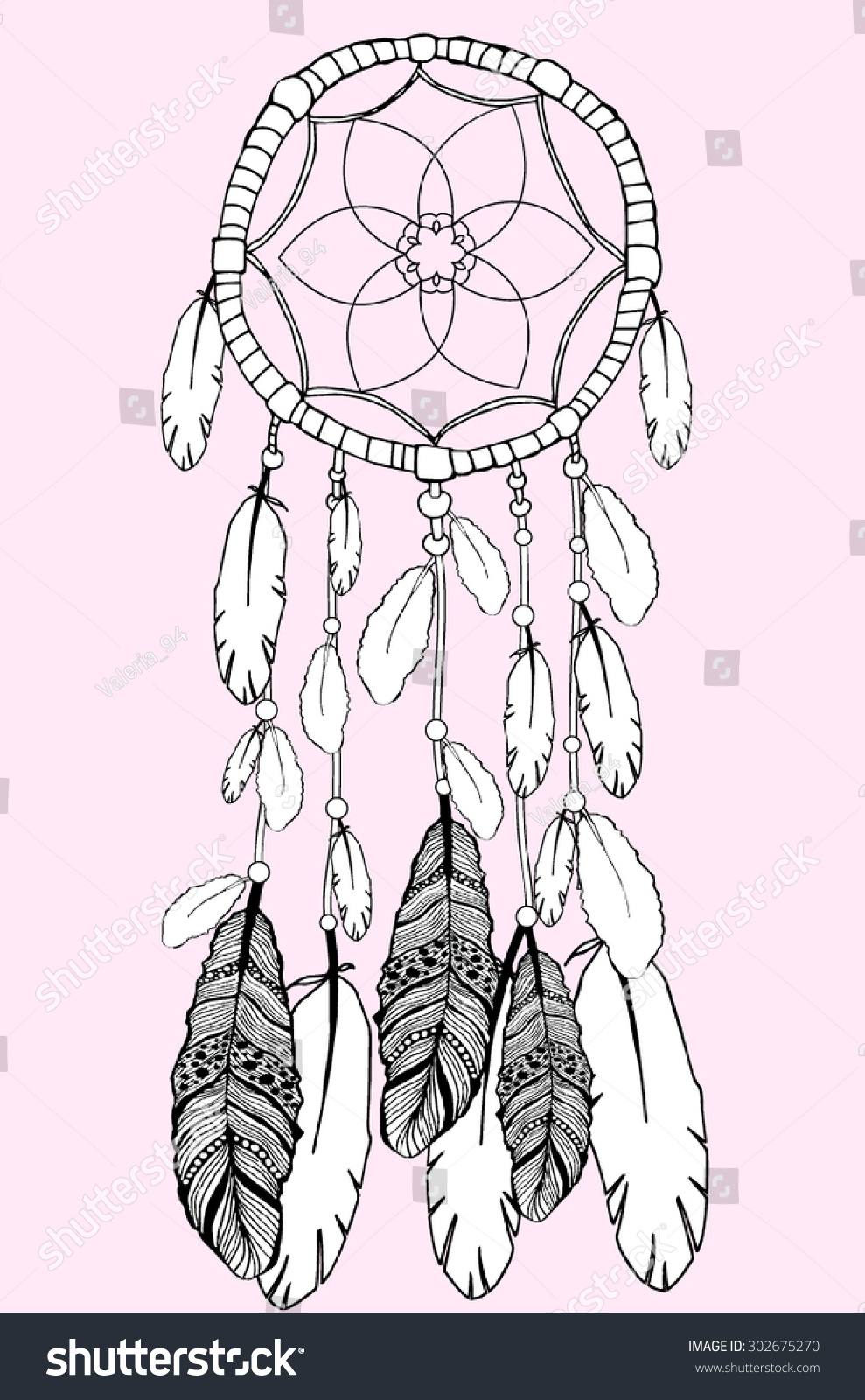 vector illustration american indian mayan aztec stock vector