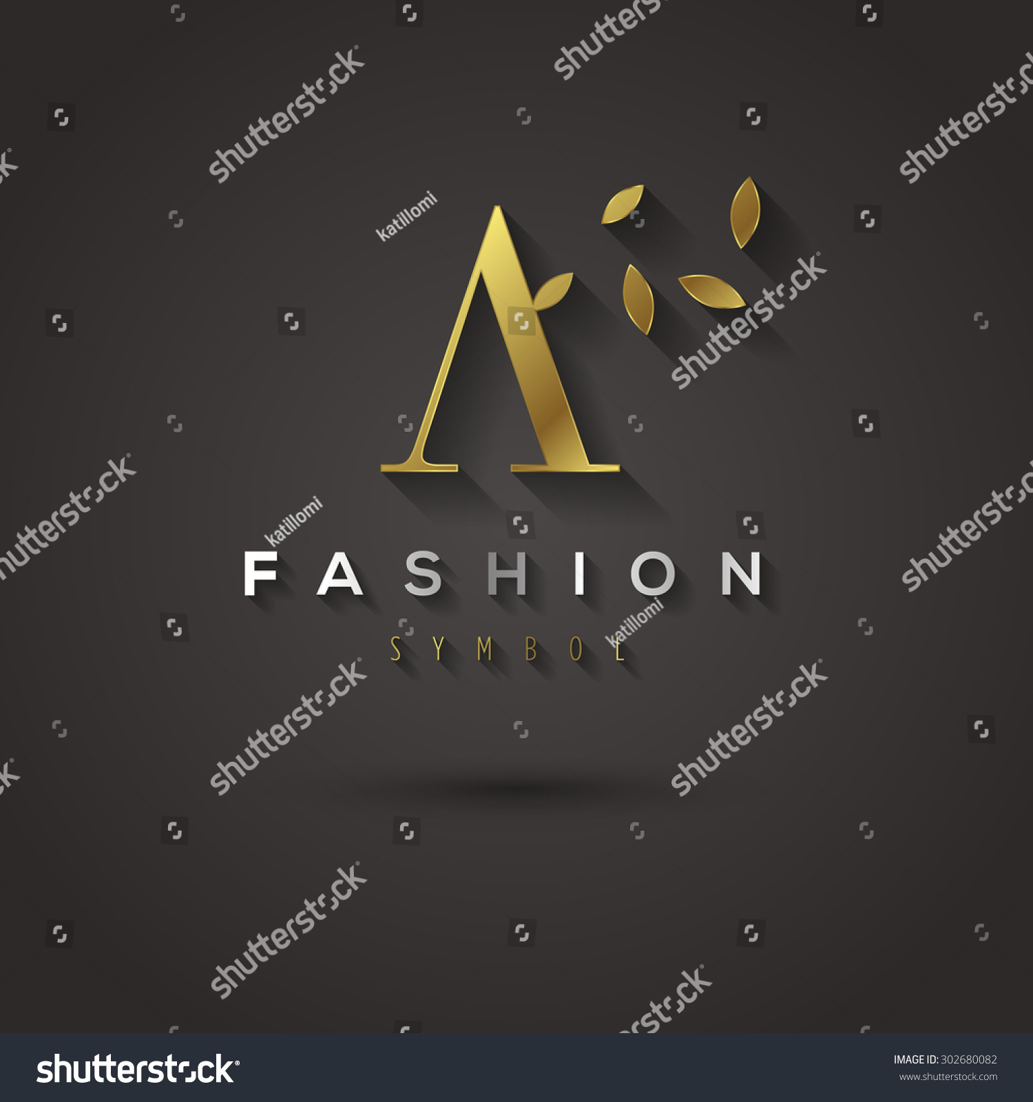 letter a text symbol vector graphic golden font sample stock vector 18187