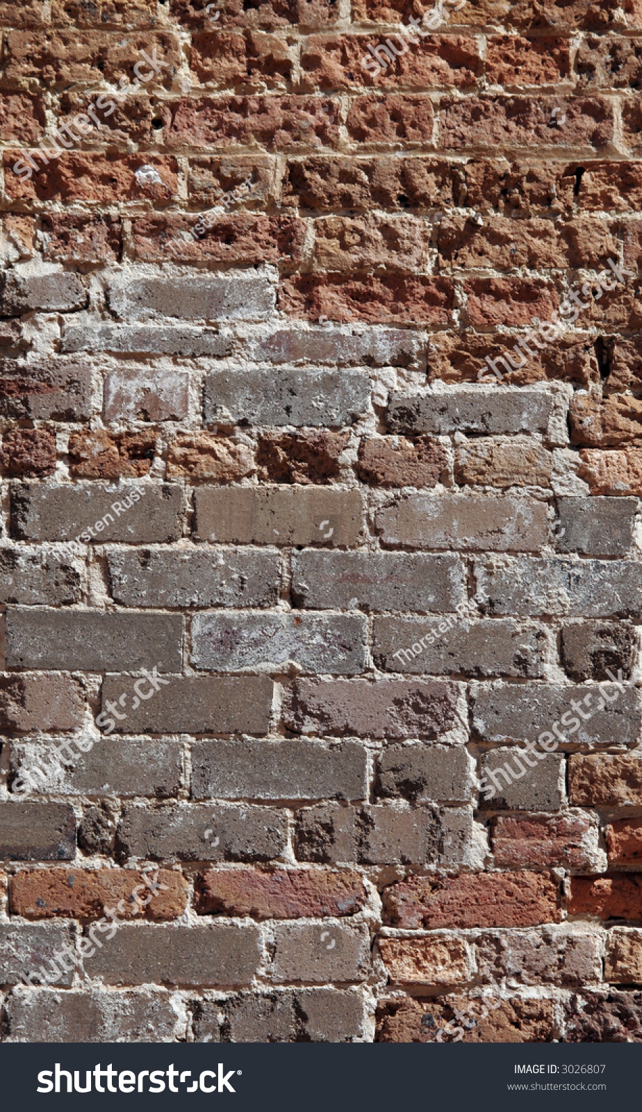 Red Brick Stone : Old red brick stone wall textured background stock photo