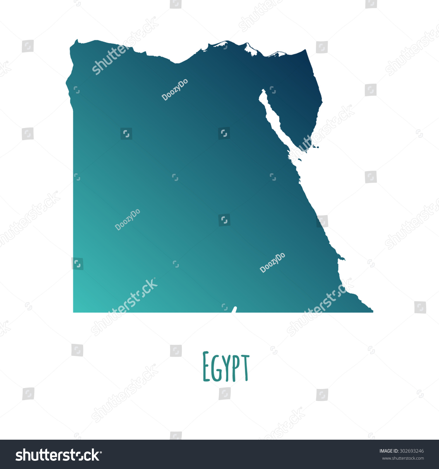 Egypt Vector Map Color Gradient Caption Stock Vector - Map of egypt vector free