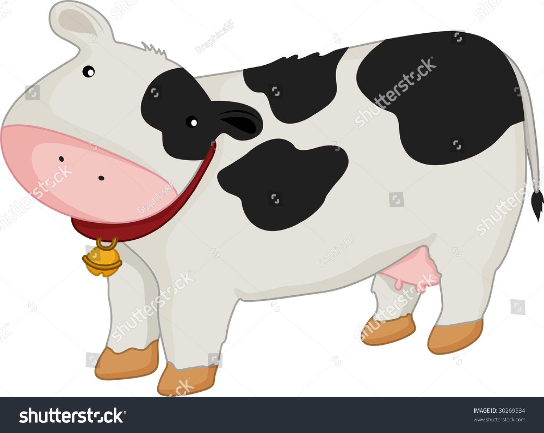 cartoon illustration cow stock illustration 30269584 shutterstock