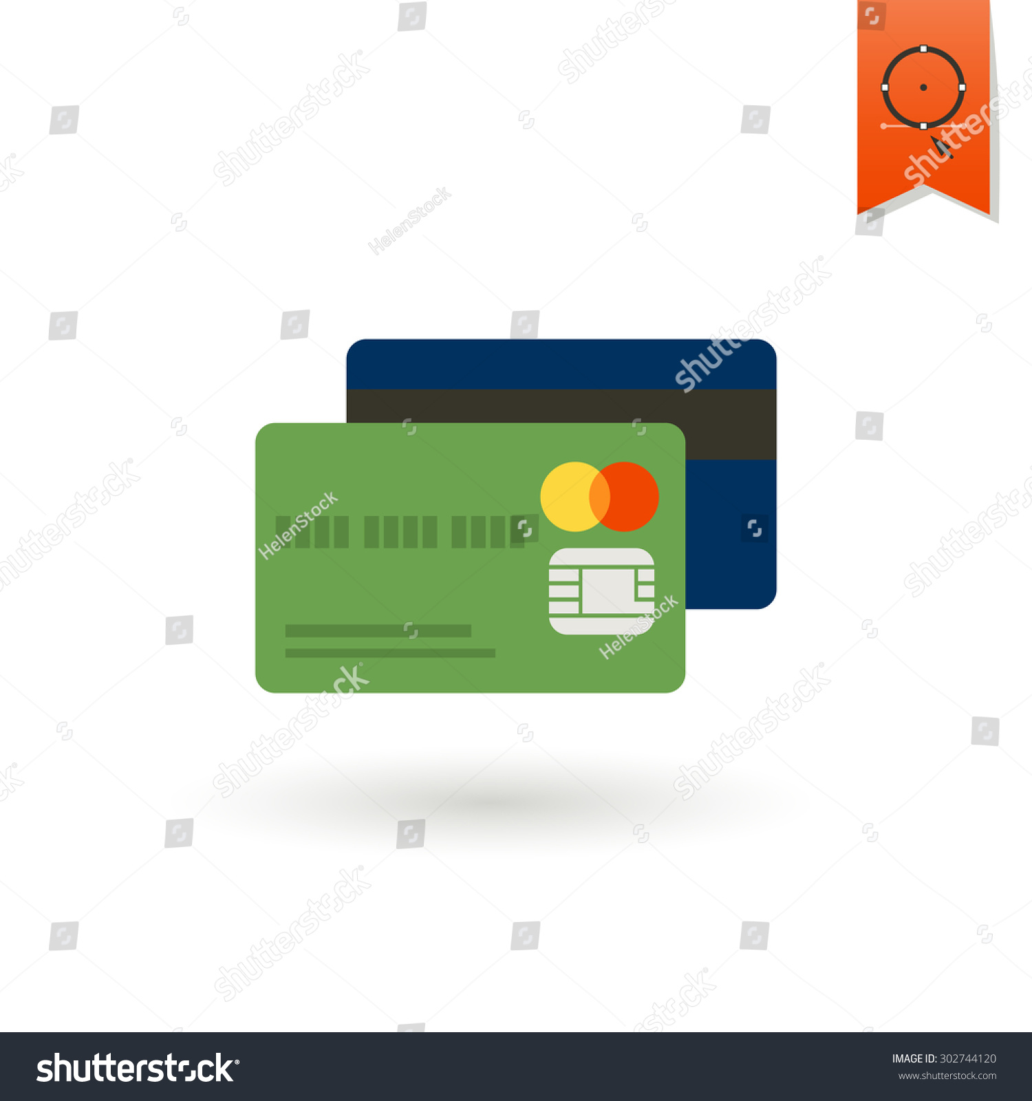 Credit Card Business Finance Single Flat Stock Vector 302744120 ...