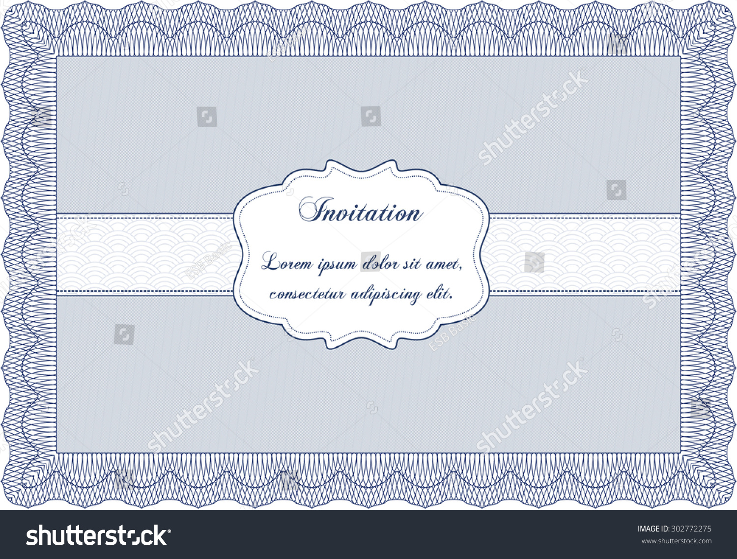 Formal invitation template background border frameelegant stock formal invitation template with background border frameelegant design stopboris Gallery