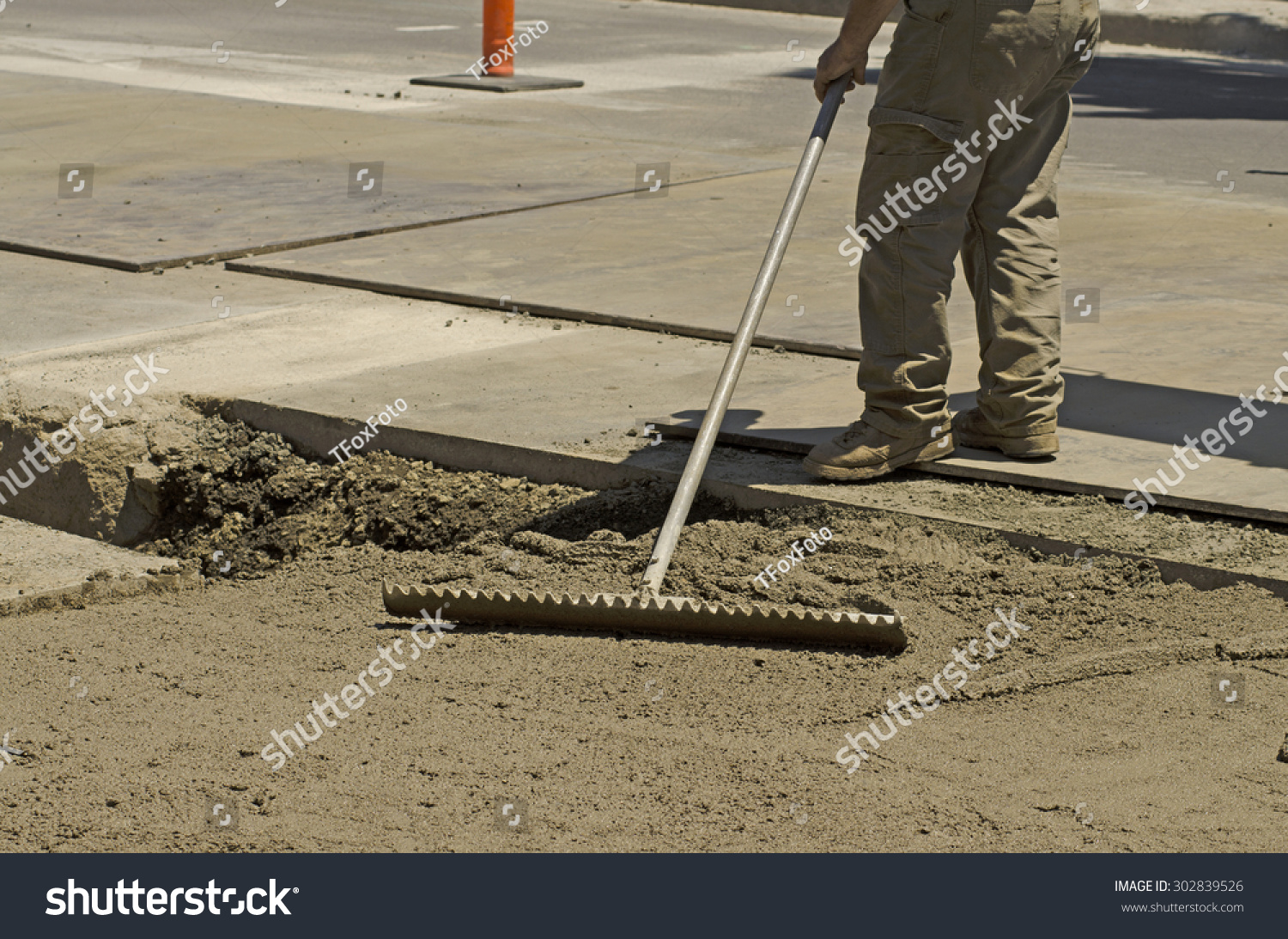Using Special Contract Slurry Backfill Sanitary Stock Photo