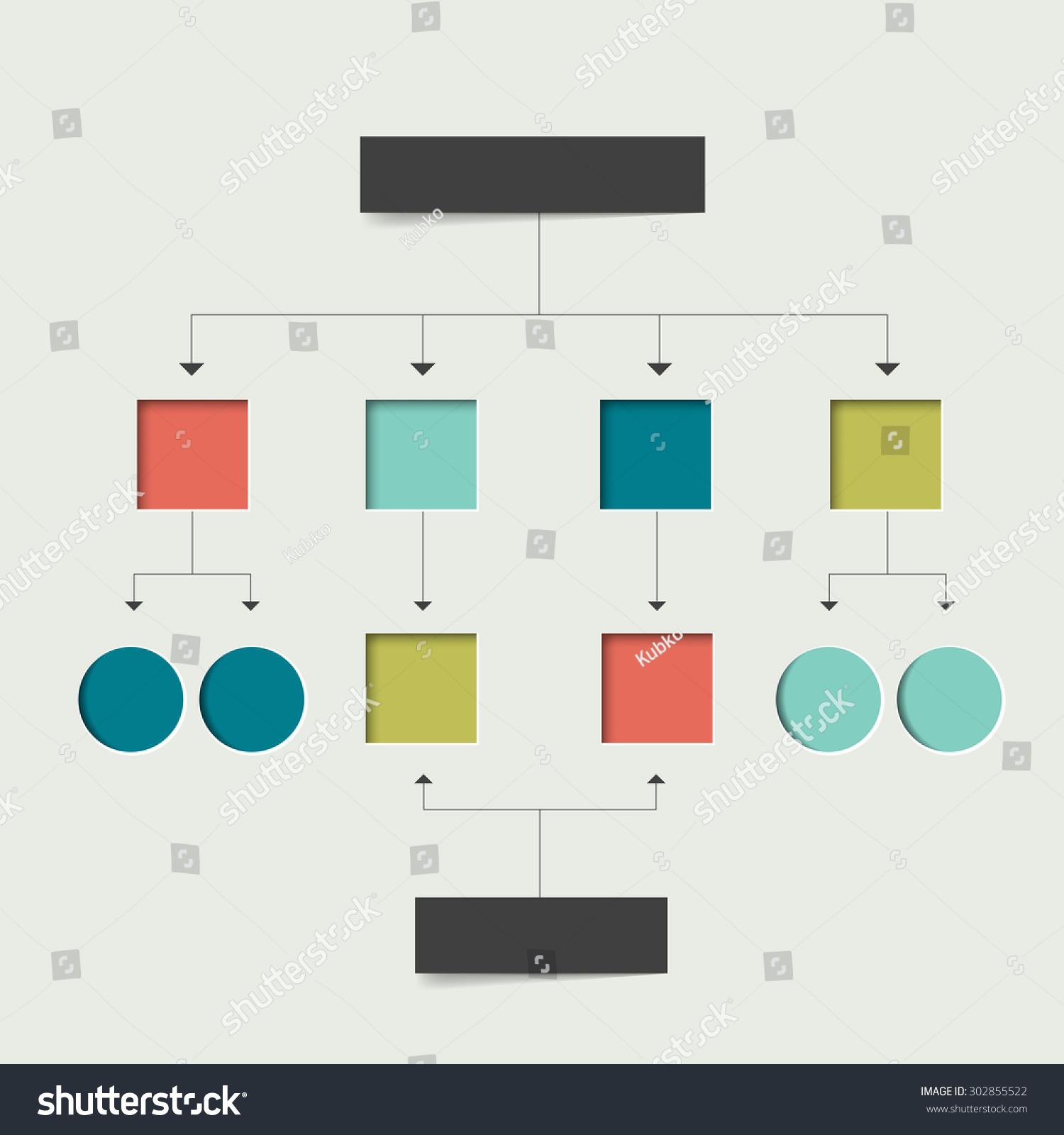Empty flowchart scheme infographics chart element stock vector empty flowchart scheme infographics chart element simply flat design nvjuhfo Gallery