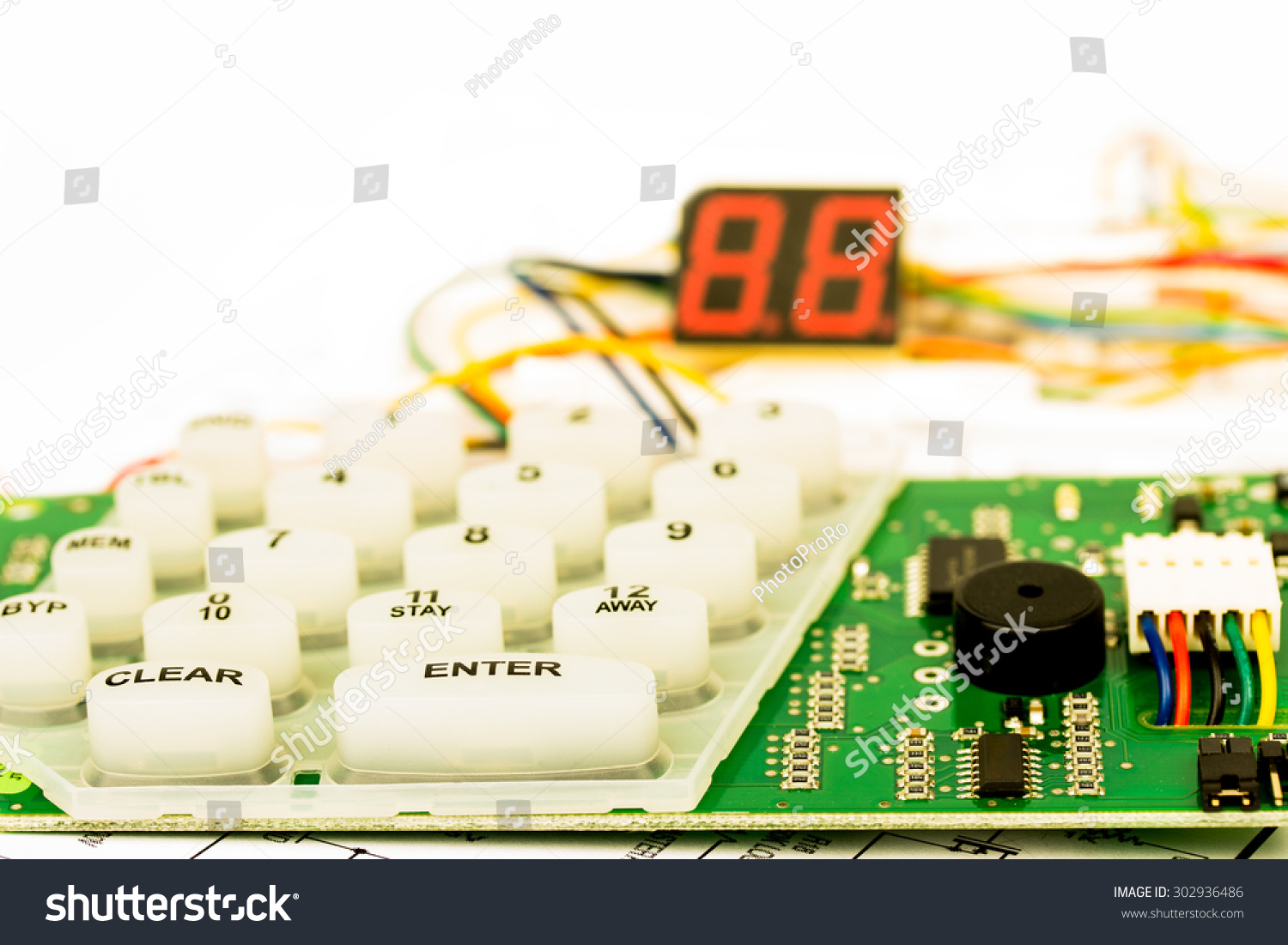 Royalty Free Workbench For Alarm And Interphone 302936486 Stock Repair Electronic Circuit Board Photography Image Electronics Diagram Multimeter Components